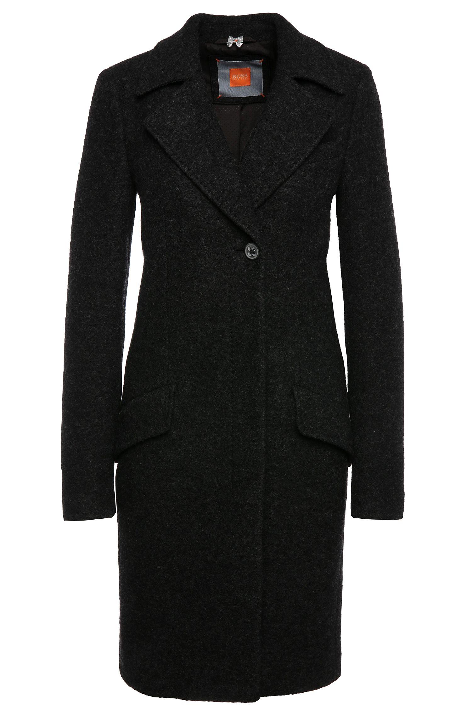 Gemêleerde mantel van scheerwol: 'Onati'