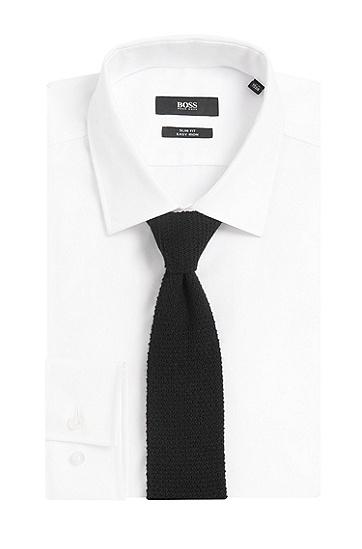 Tailored Krawatte aus Kaschmir in Strick-Qualität: 'T-Tie 6 cm', Schwarz