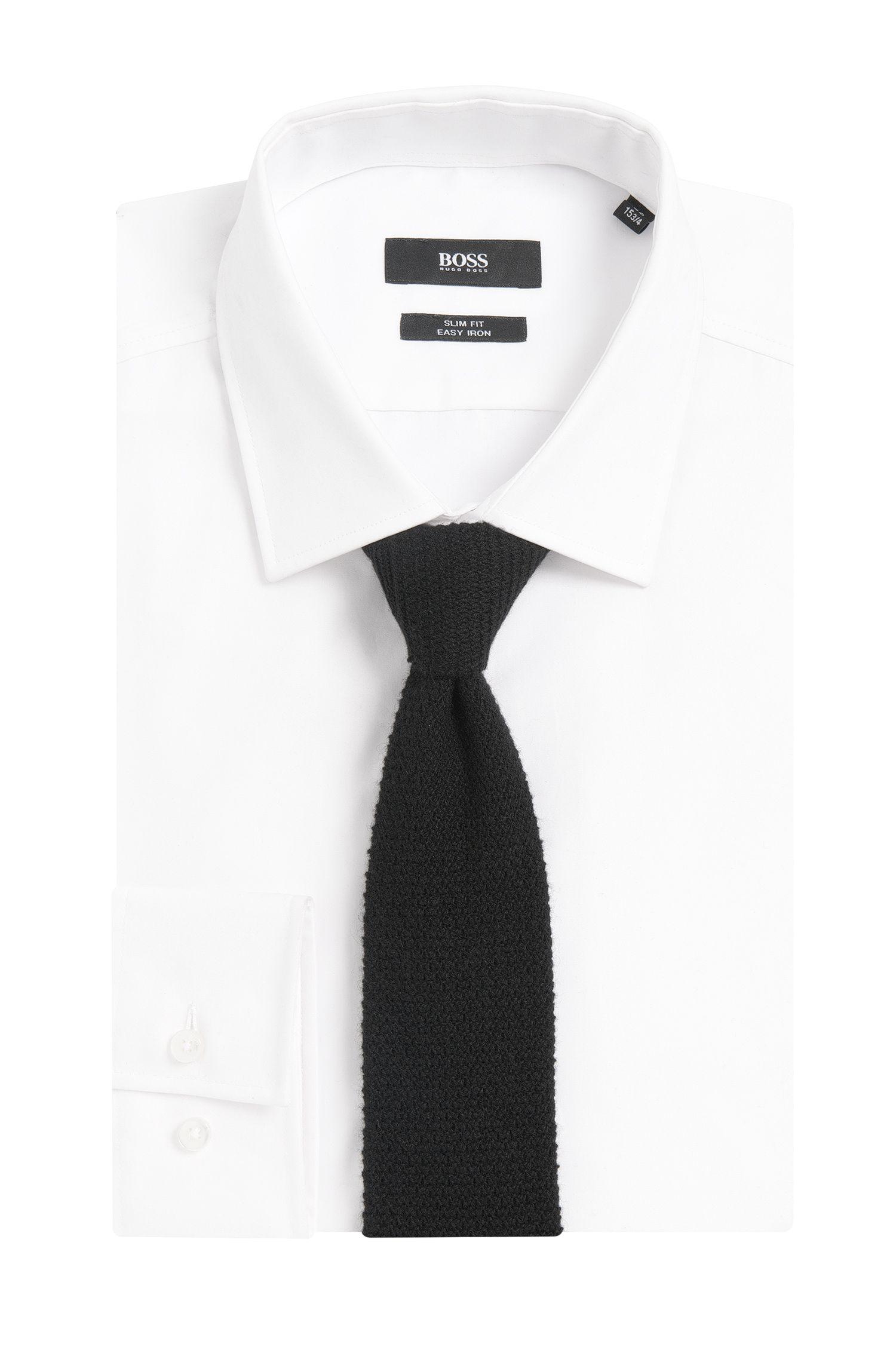Cravate en maille Tailored en cachemire: «T-Tie6cm»