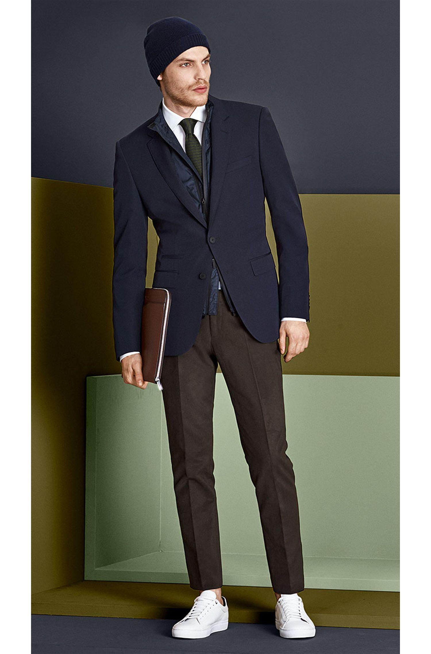 Gebreide stropdas uit de Tailored-collectie, van zijde met streepdessin: 'T-Tie 6 cm knitted'