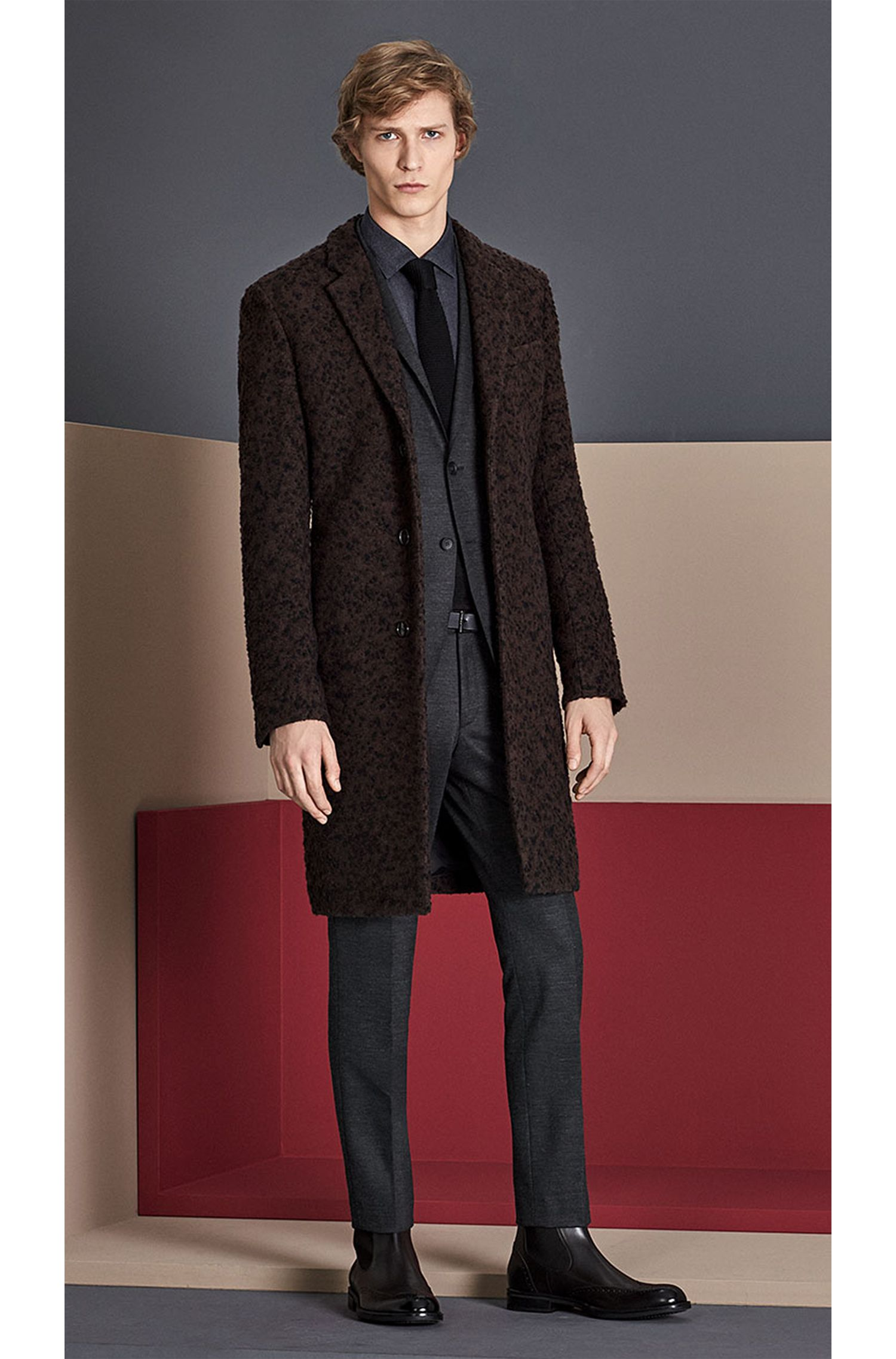 Cravate en soie en maille Tailored: «T-Tie 6cm knitted»