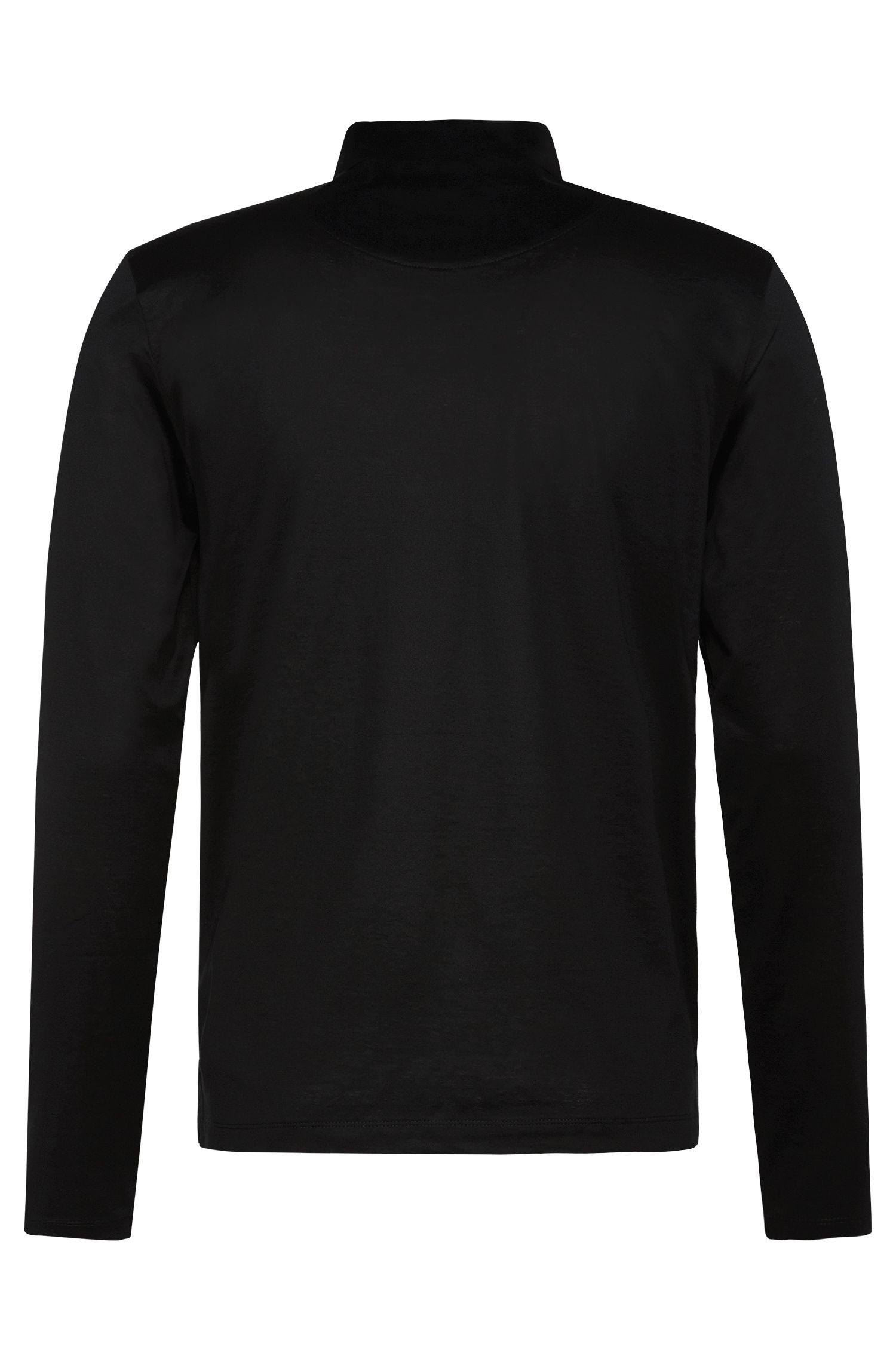 Unifarbenes Slim-Fit Poloshirt aus merzerisierter Baumwolle: 'Prall 06'