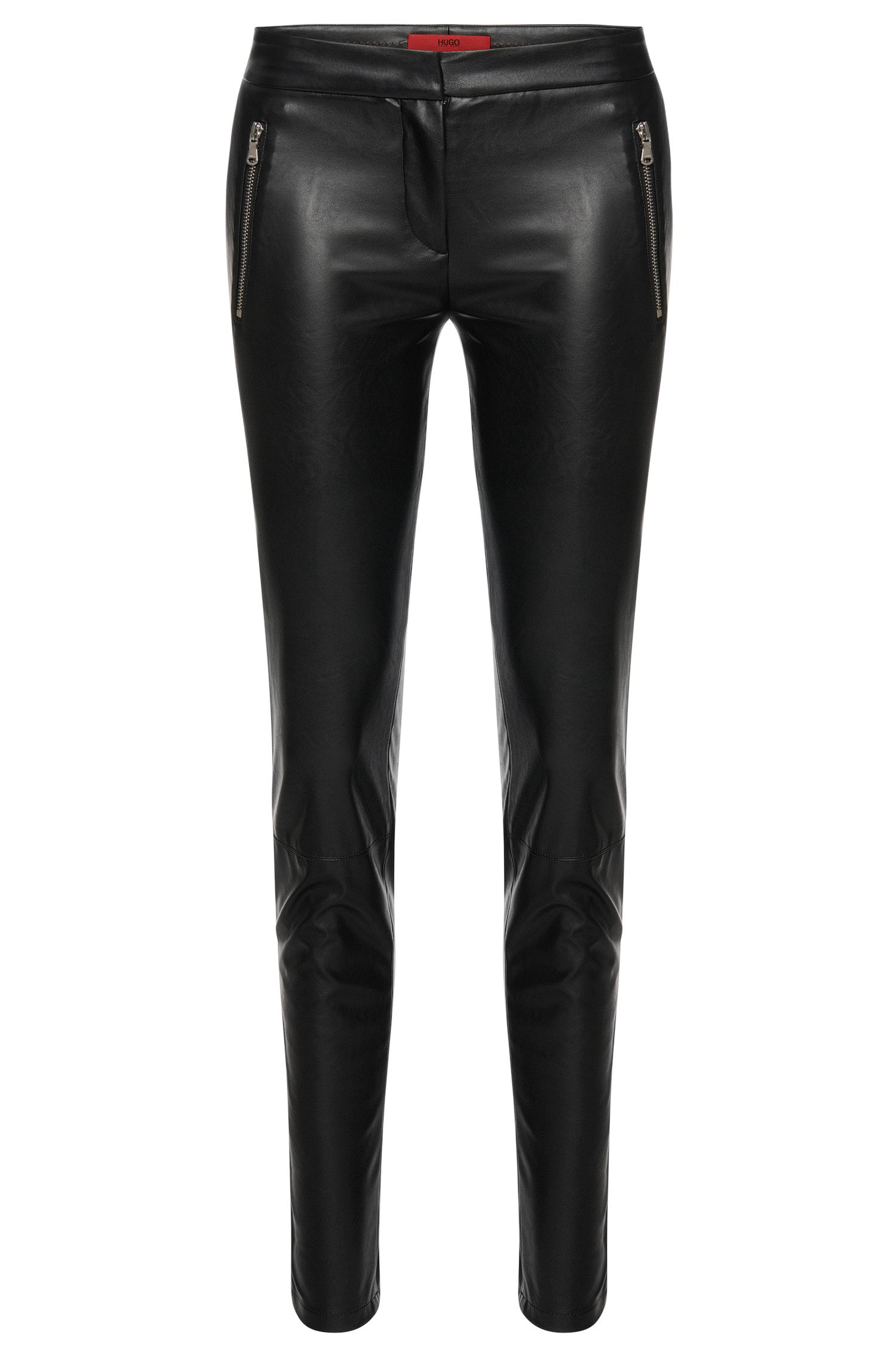Low Waisted Hose in Leder-Optik: 'Heidina-1'