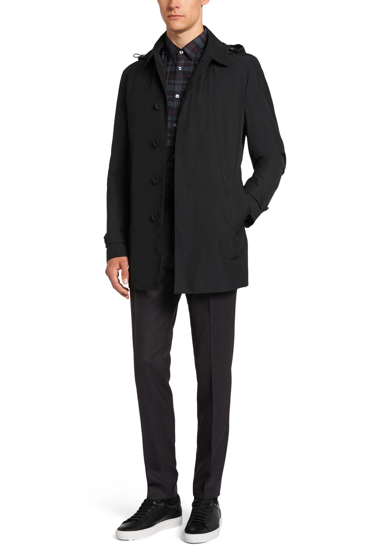 Pantalon Extra Slim Fit finement chiné, en laine vierge: «Wynn»