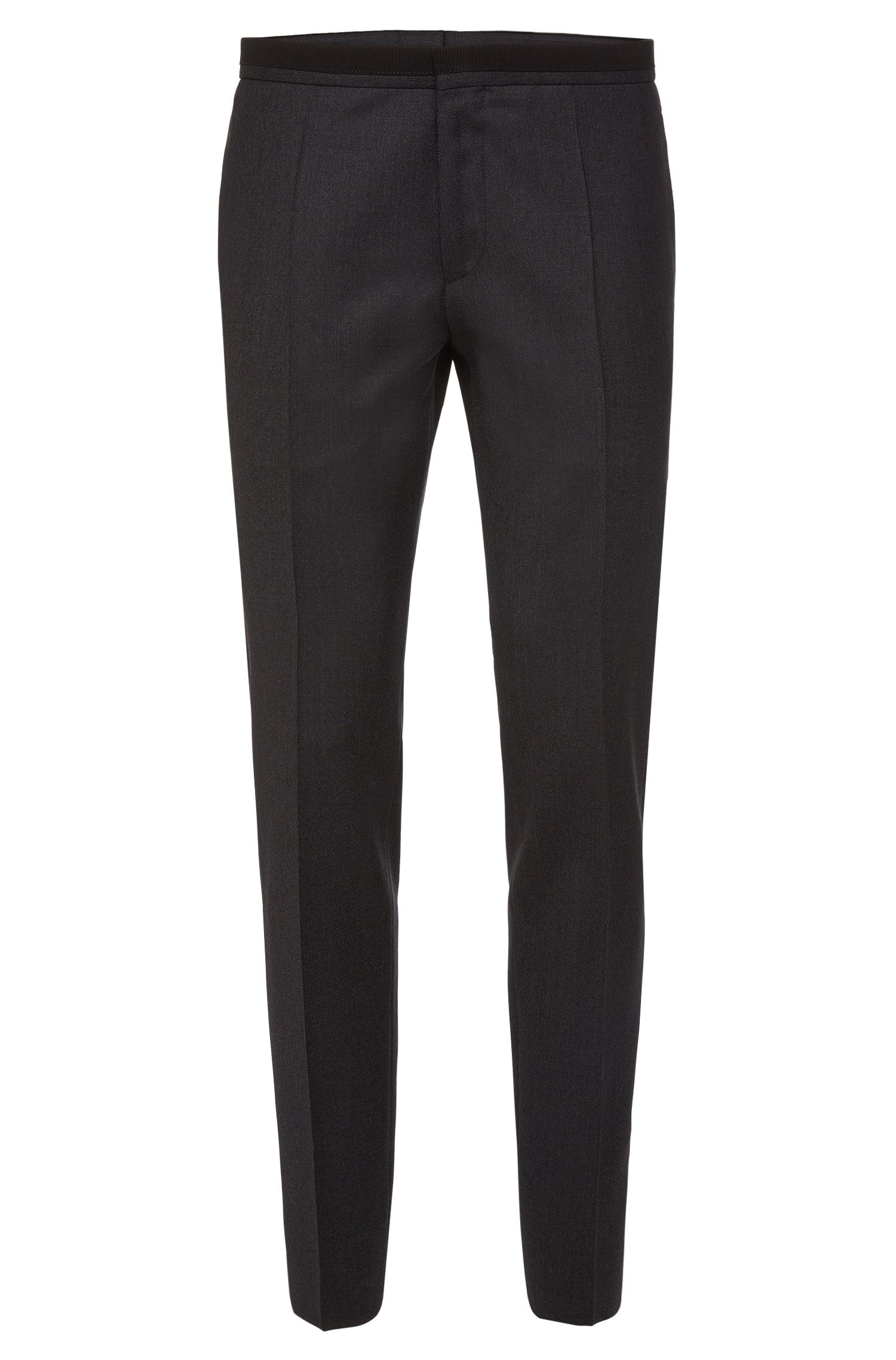 Finely mottled extra-slim fit trousers in new wool: 'Wynn'