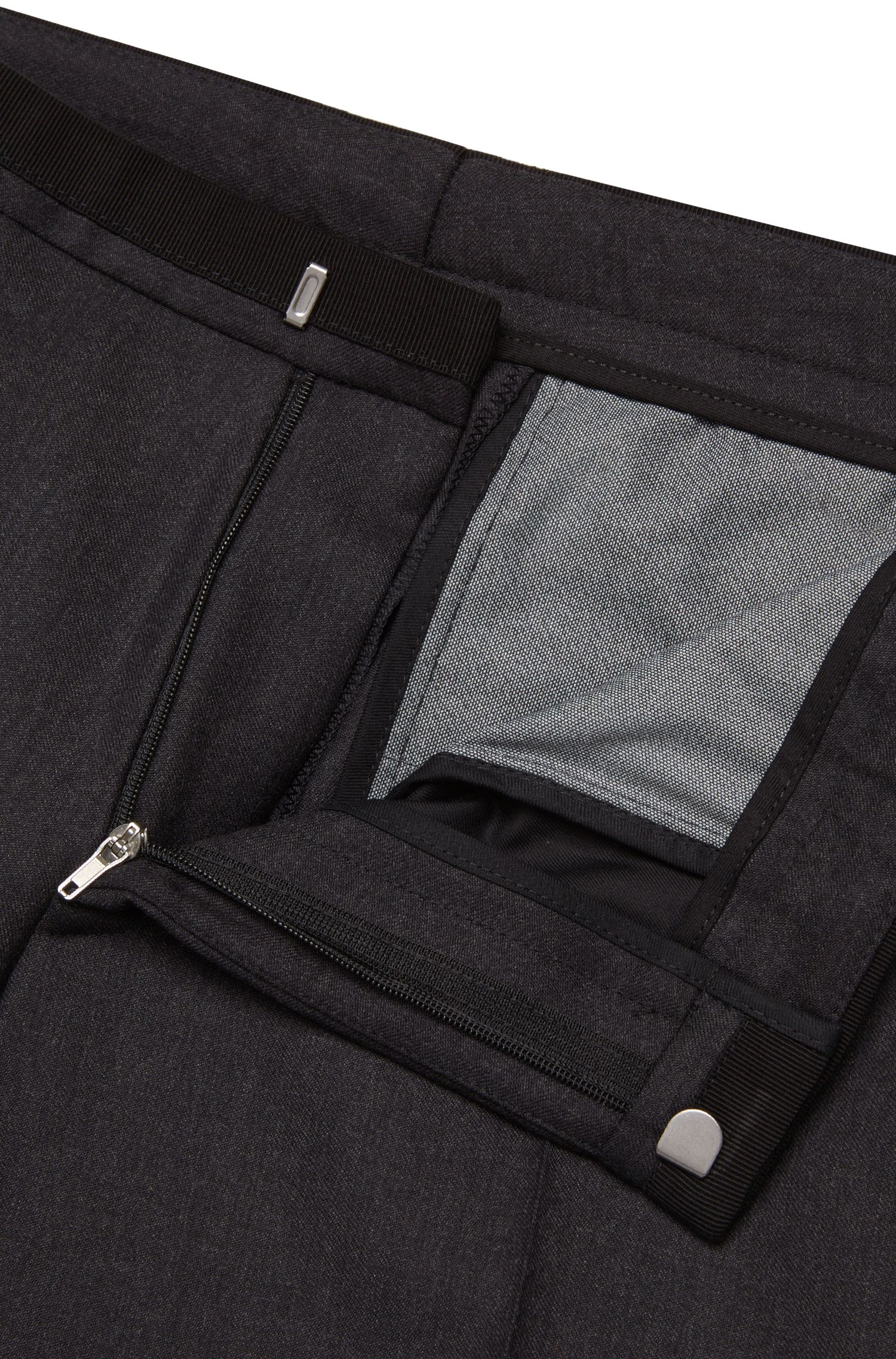 Fein melierte Extra Slim-Fit Hose aus Schurwolle: 'Wynn'
