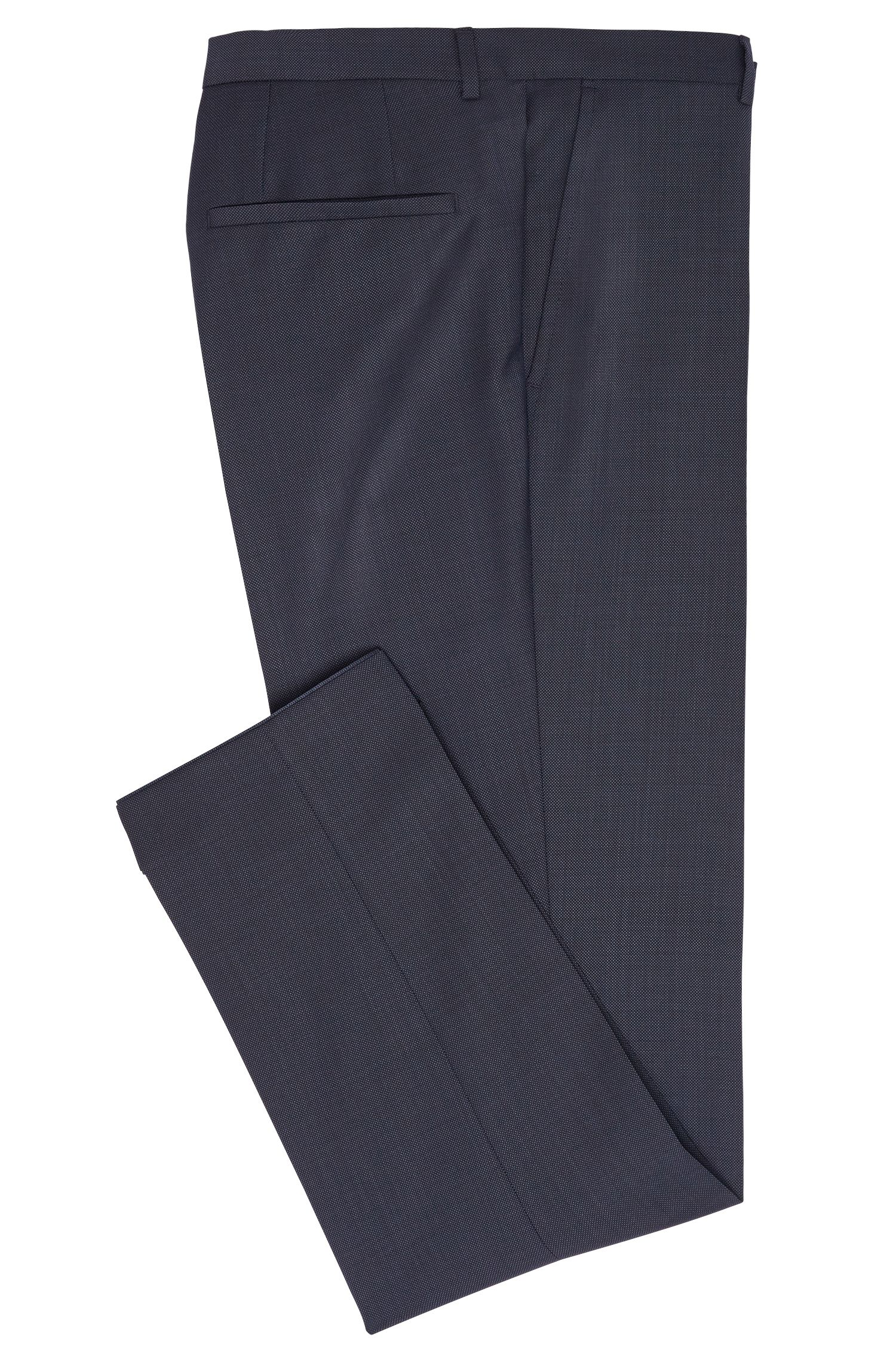 Pantalon Slim Fit finement structuré en pure laine vierge : « HartleyS »