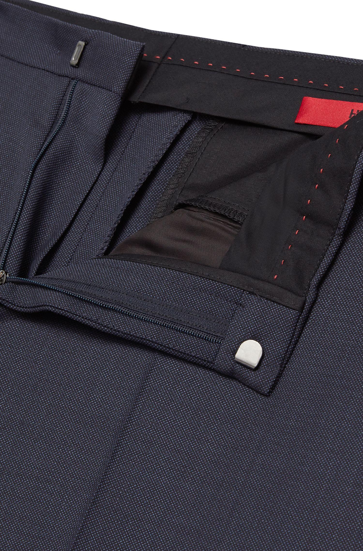 Fein strukturierte Slim-Fit Hose aus reiner Schurwolle: 'HartleyS'
