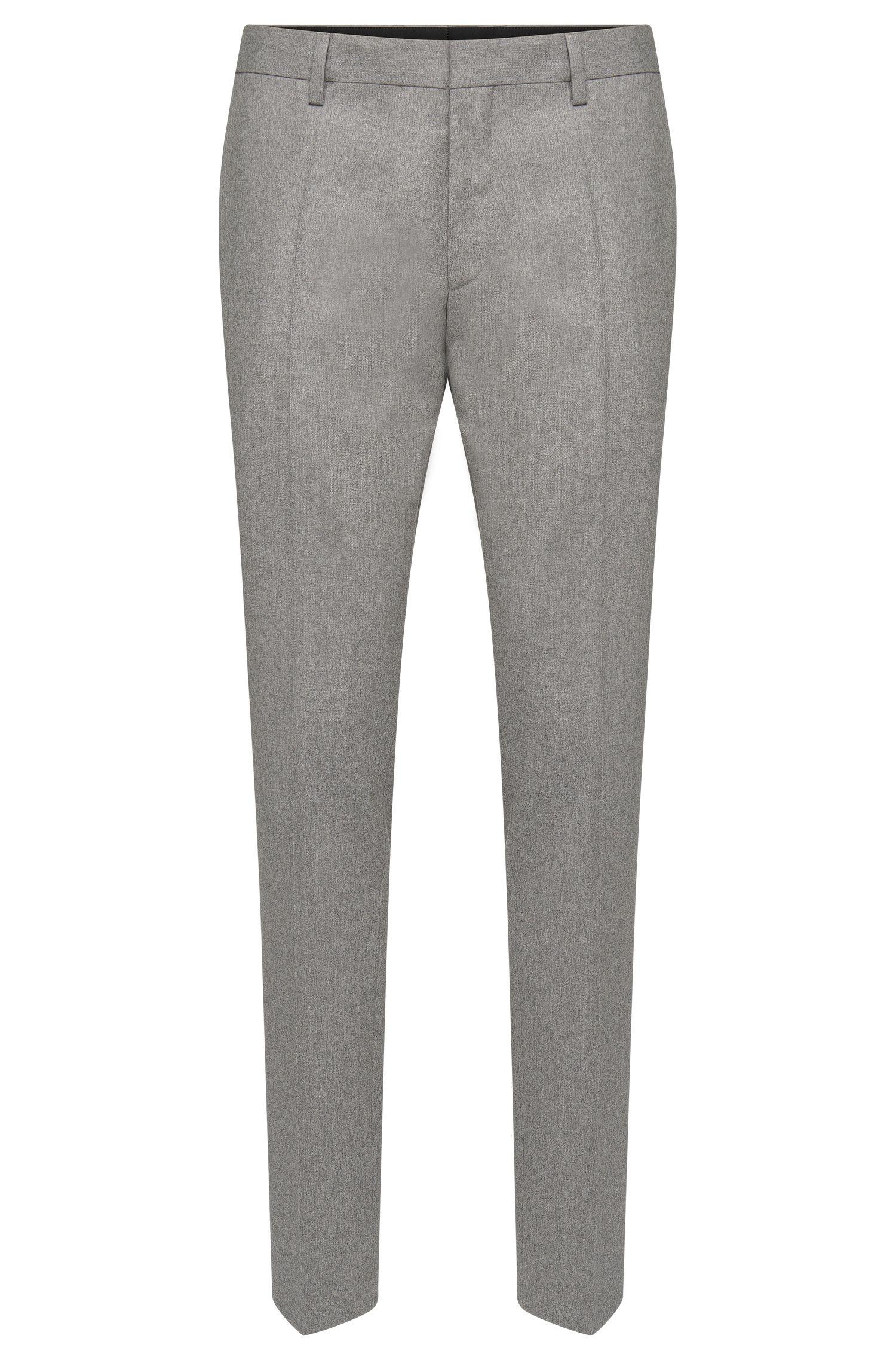 Pantalon Slim Fit en pure laine vierge doté de plis de repassage: «Genesis2»