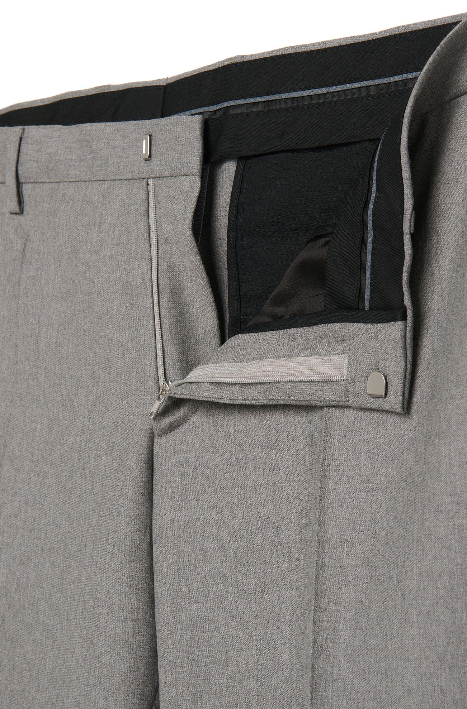 Slim-Fit Hose aus reiner Schurwolle mit Bügelfalten: 'Genesis2'
