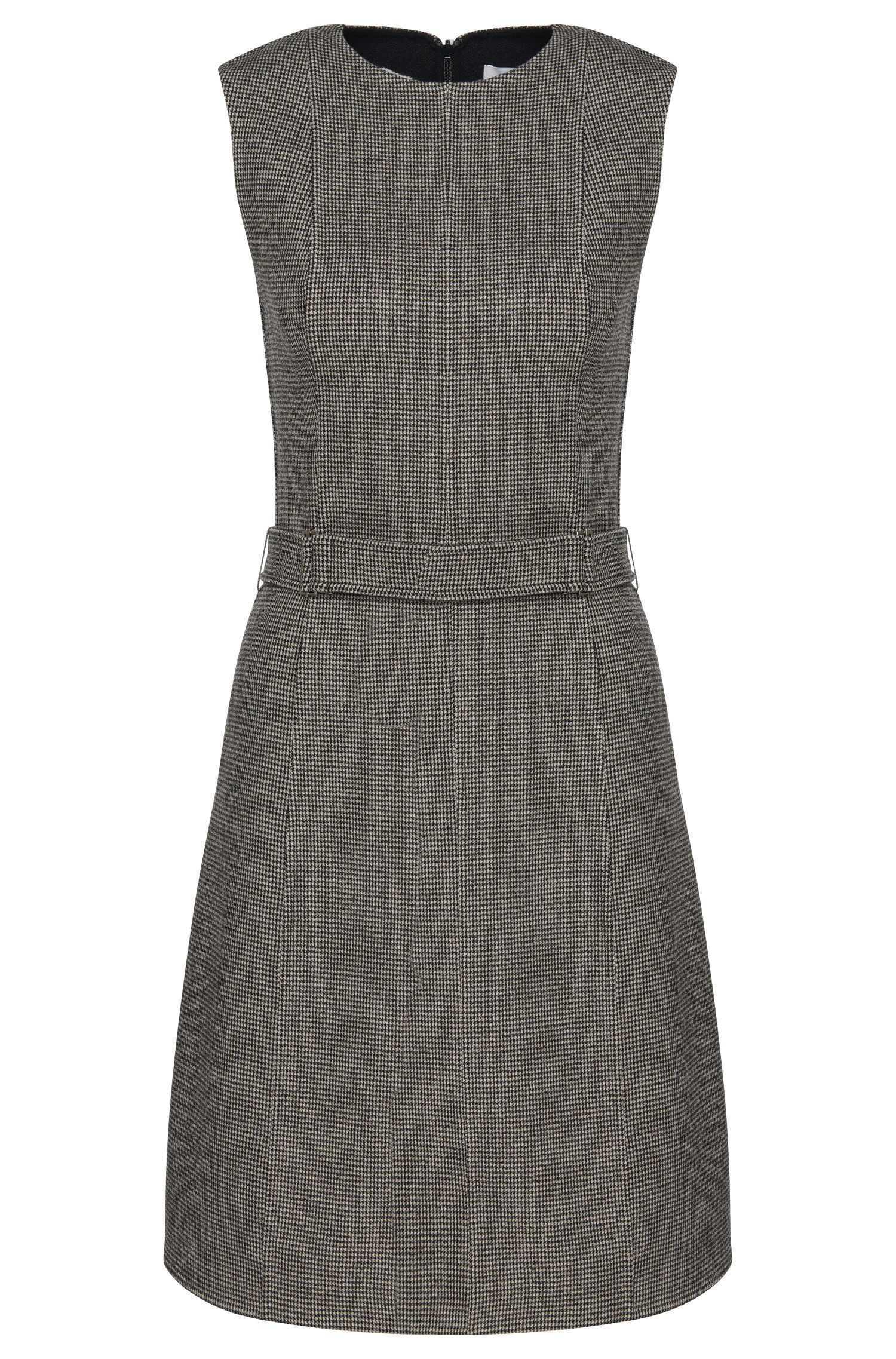 Finely patterned dress in wool blend: 'Diganira2'