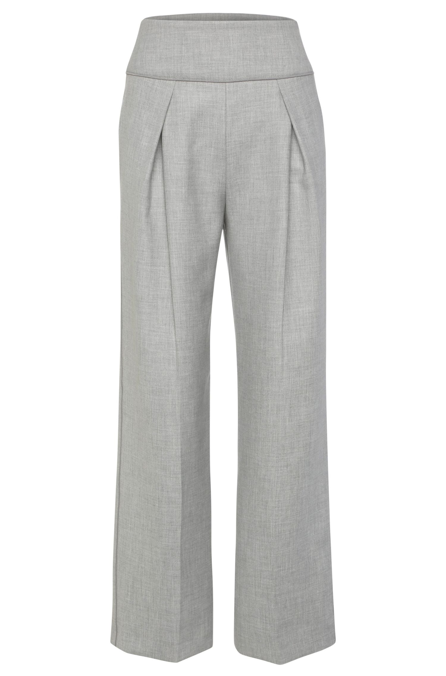 Relaxed-fit trousers in a stretch fabric blend with viscose: 'Safolky'