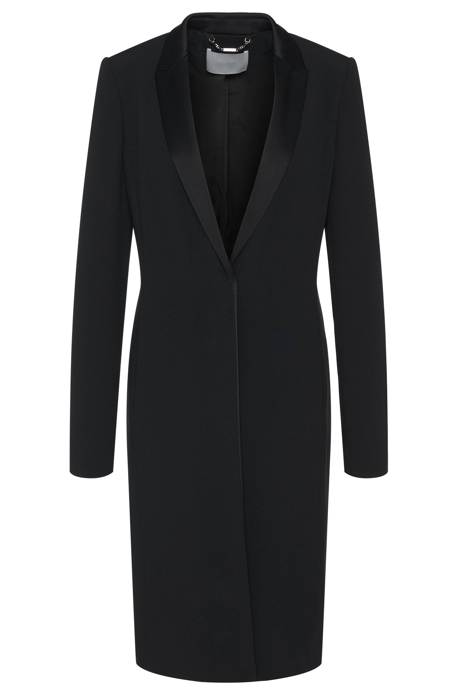 Coat in fabric blend with viscose in dinner jacket style: 'Cafina'