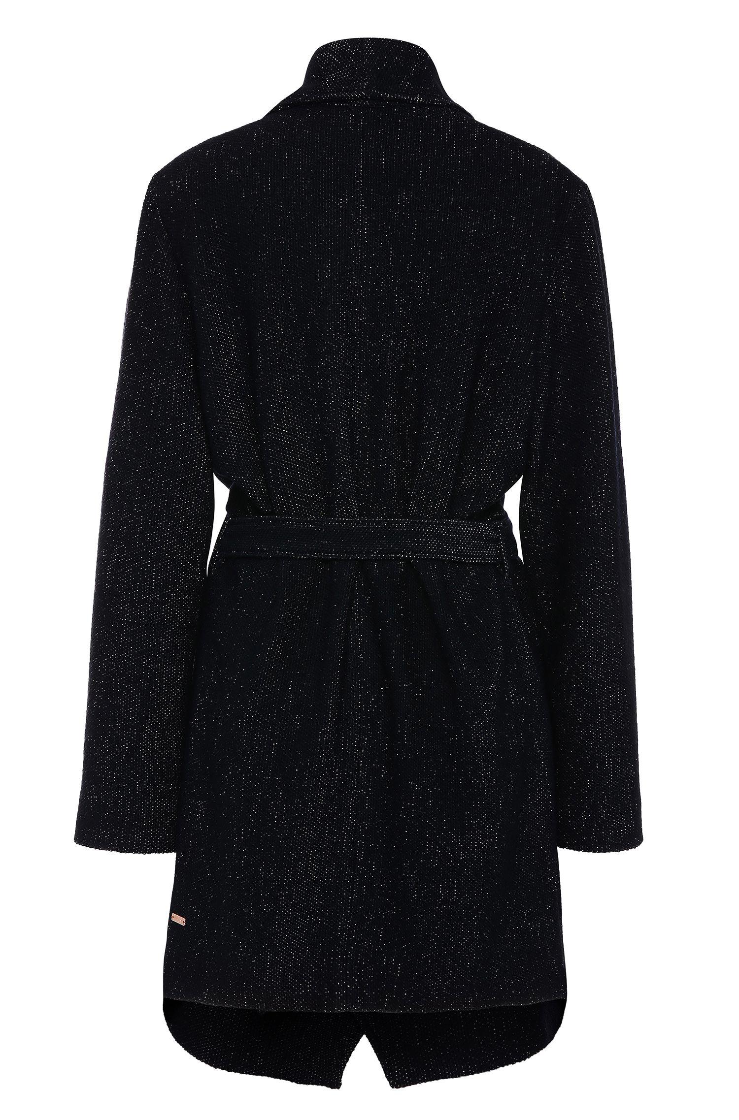 Relaxed-fit mantel met royale kraag van een materiaalmix: 'Owalla1'
