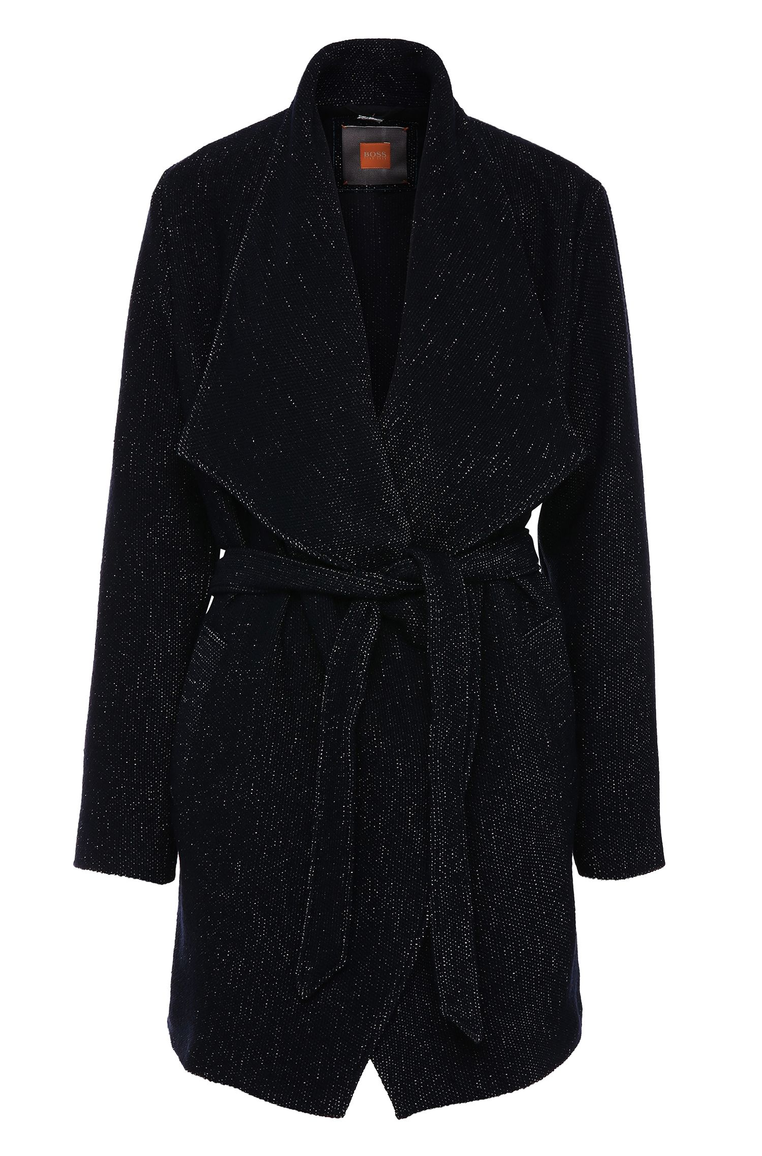 Relaxed-fit coat with a large collar in fabric blend: 'Owalla1'