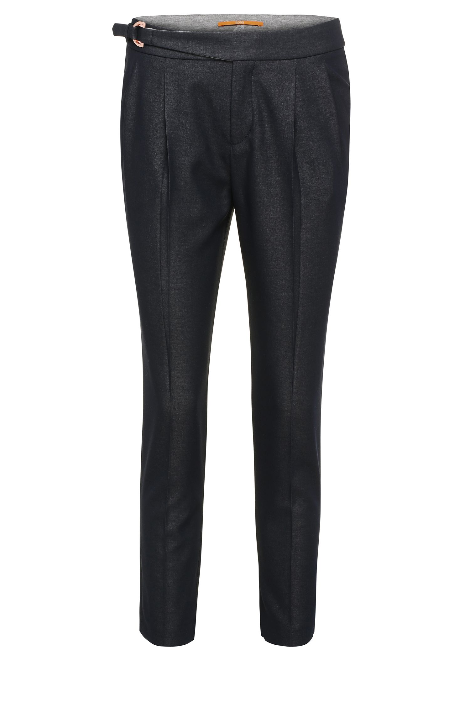 Viscose blend trousers with waist pleats: 'Salanja'