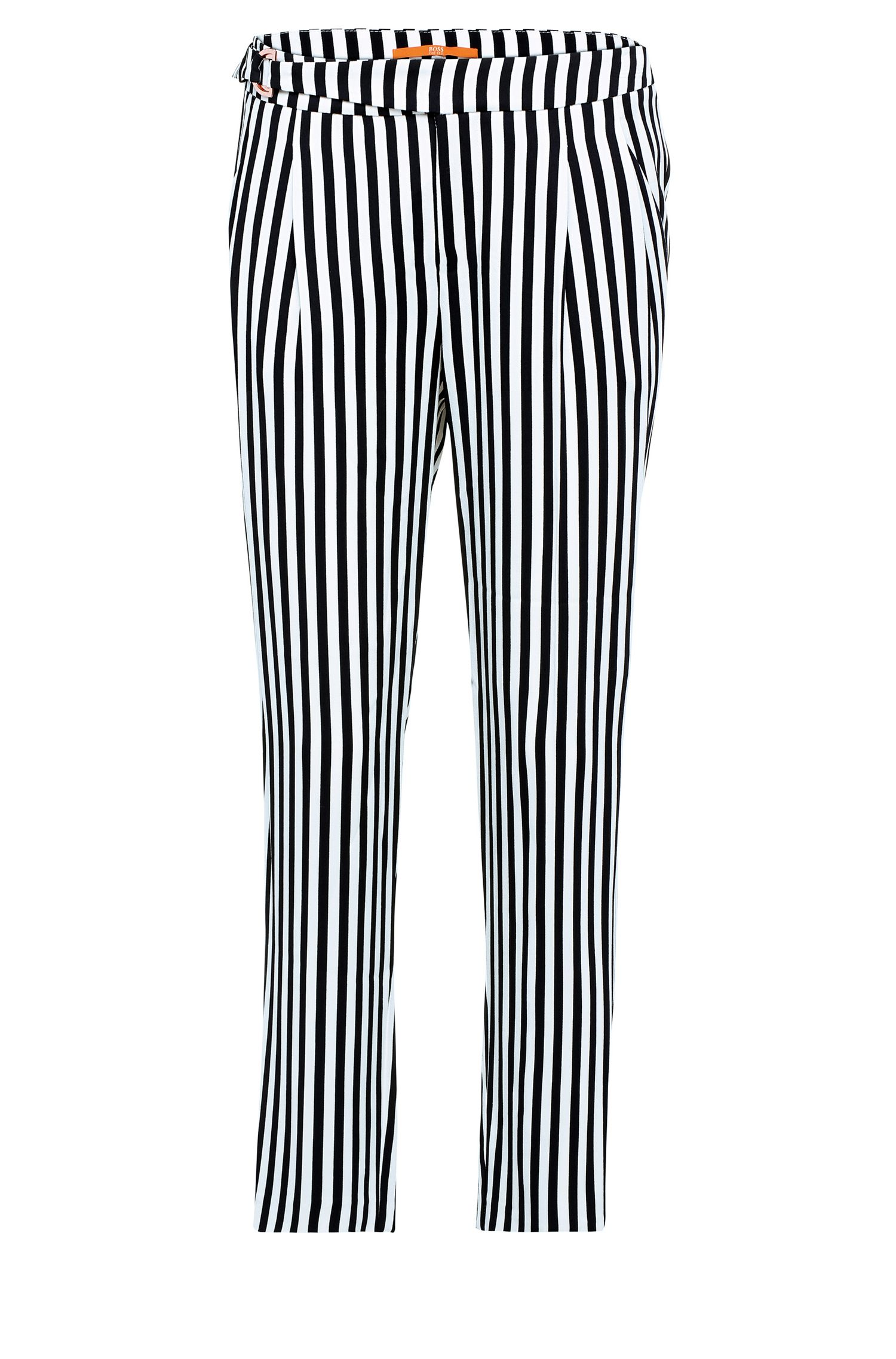 Striped regular-fit trousers in viscose: 'Salanja'