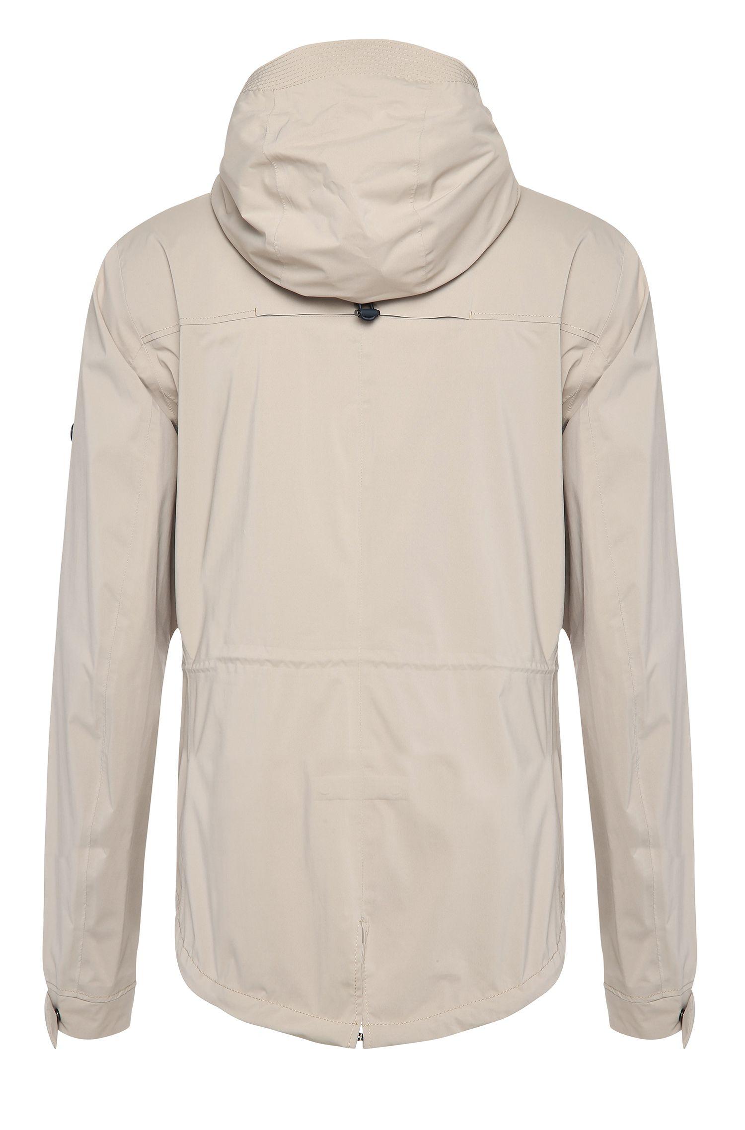 Regular-Fit Jacke aus Material-Mix mit abnehmbarer Kapuze: ´Jolvic`