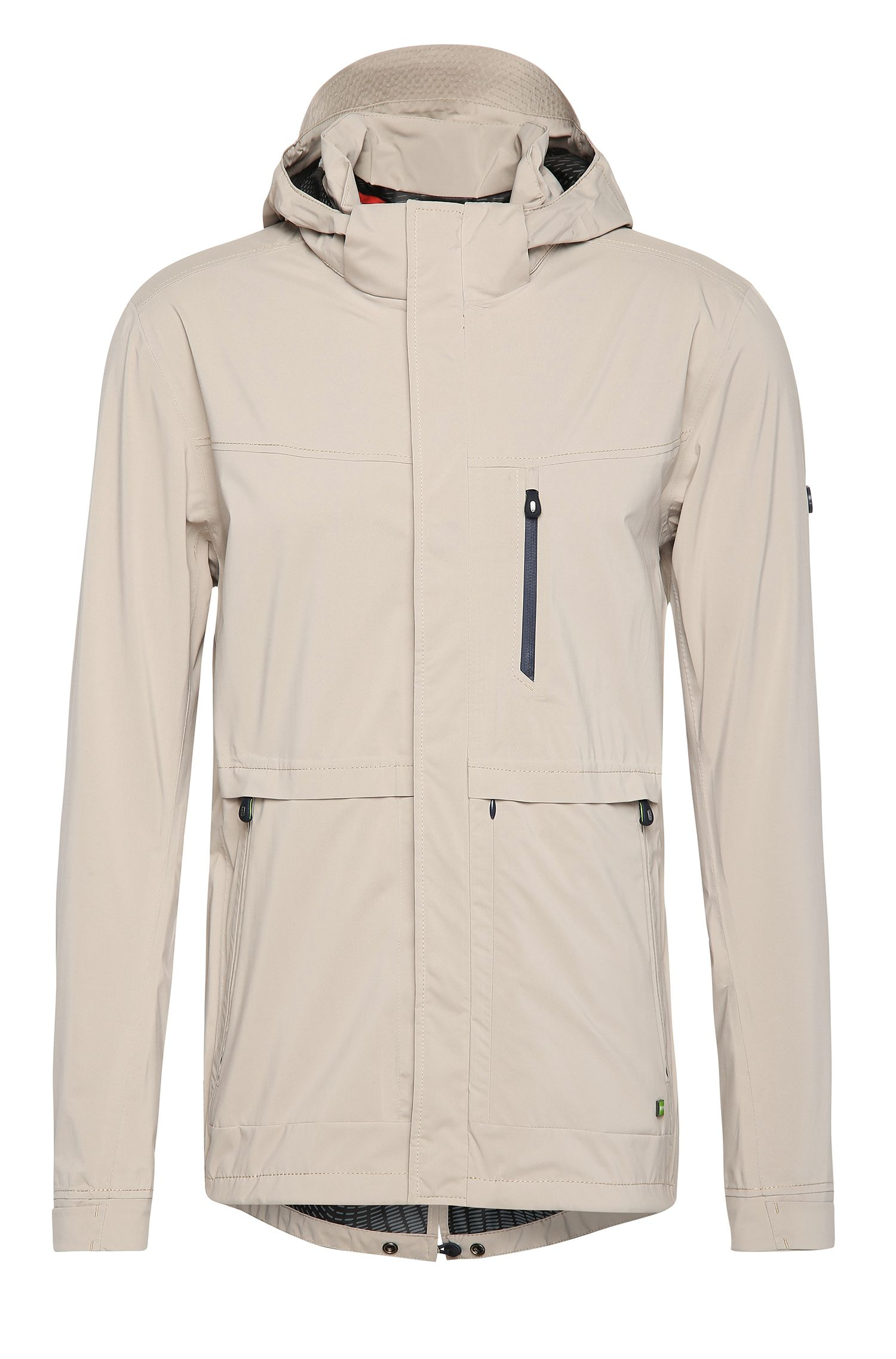 Regular-fit jacket in fabric blend with detachable hood: 'Jolvic'