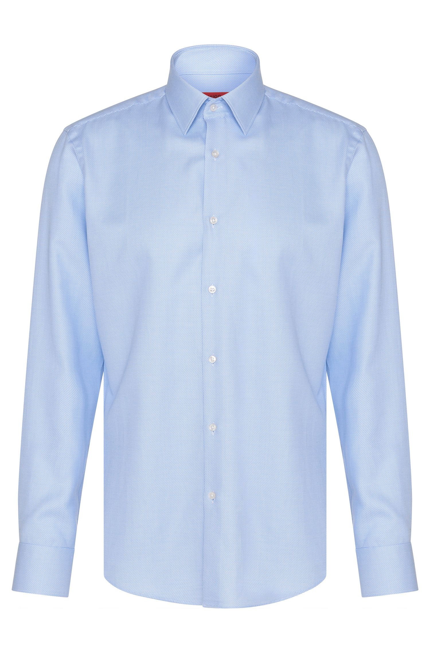 Regular-fit shirt in cotton with all-over pattern: 'C-Enzo'