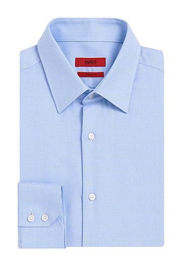Regular-Fit Hemd aus Baumwolle mit Allover-Muster: 'C-Enzo', Hellblau