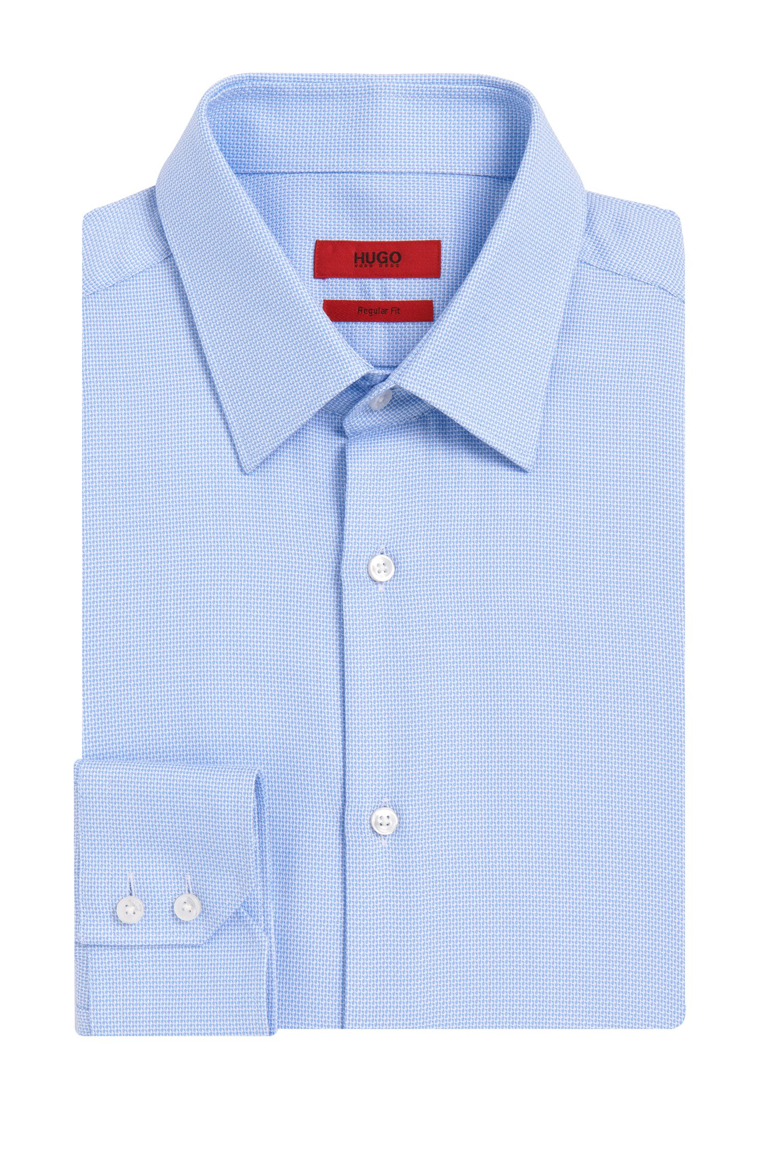 Regular-fit overhemd van katoen met all-over dessin: 'C-Enzo'