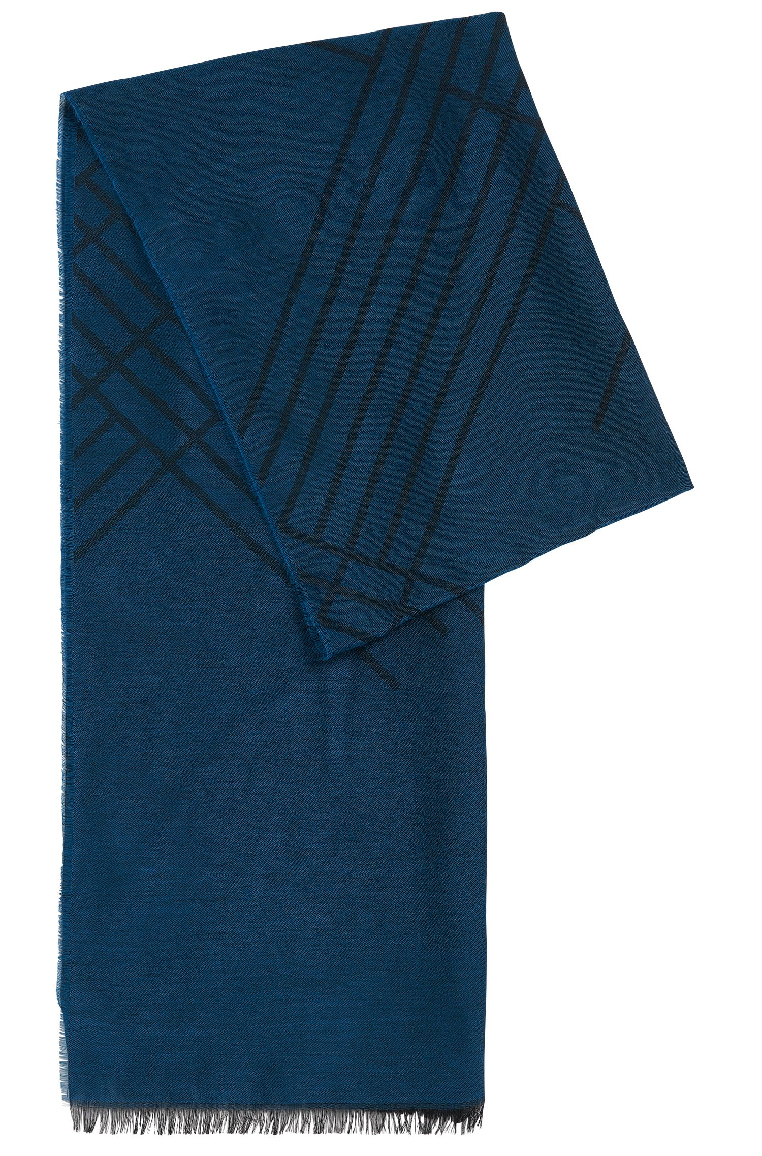 Plain scarf in viscose blend with cotton and modal: 'Callorio'