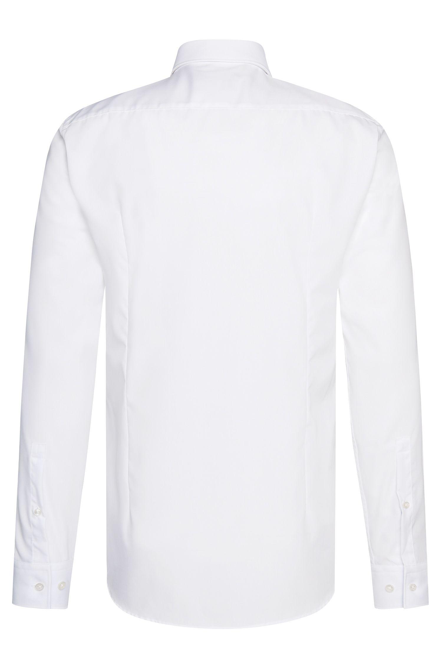 Chemise Slim Fit en coton avec détails en contraste: «C-Jery»