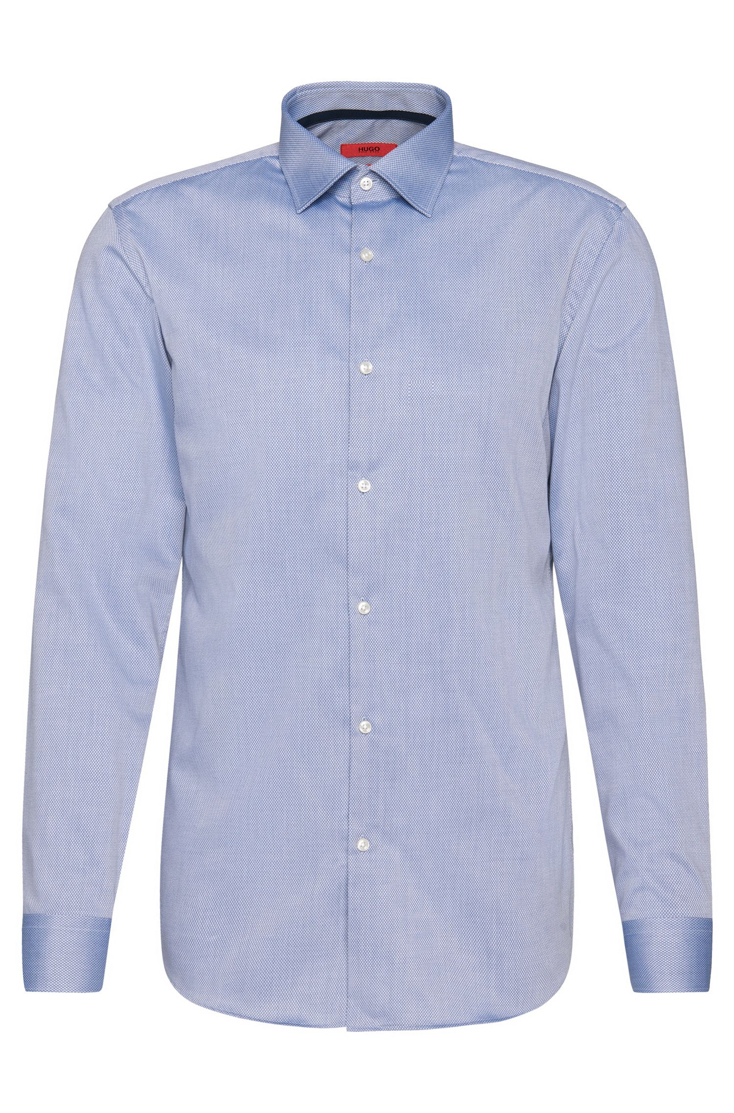 Camicia slim fit a quadri sottili in cotone facile da stirare: 'C-Joey'