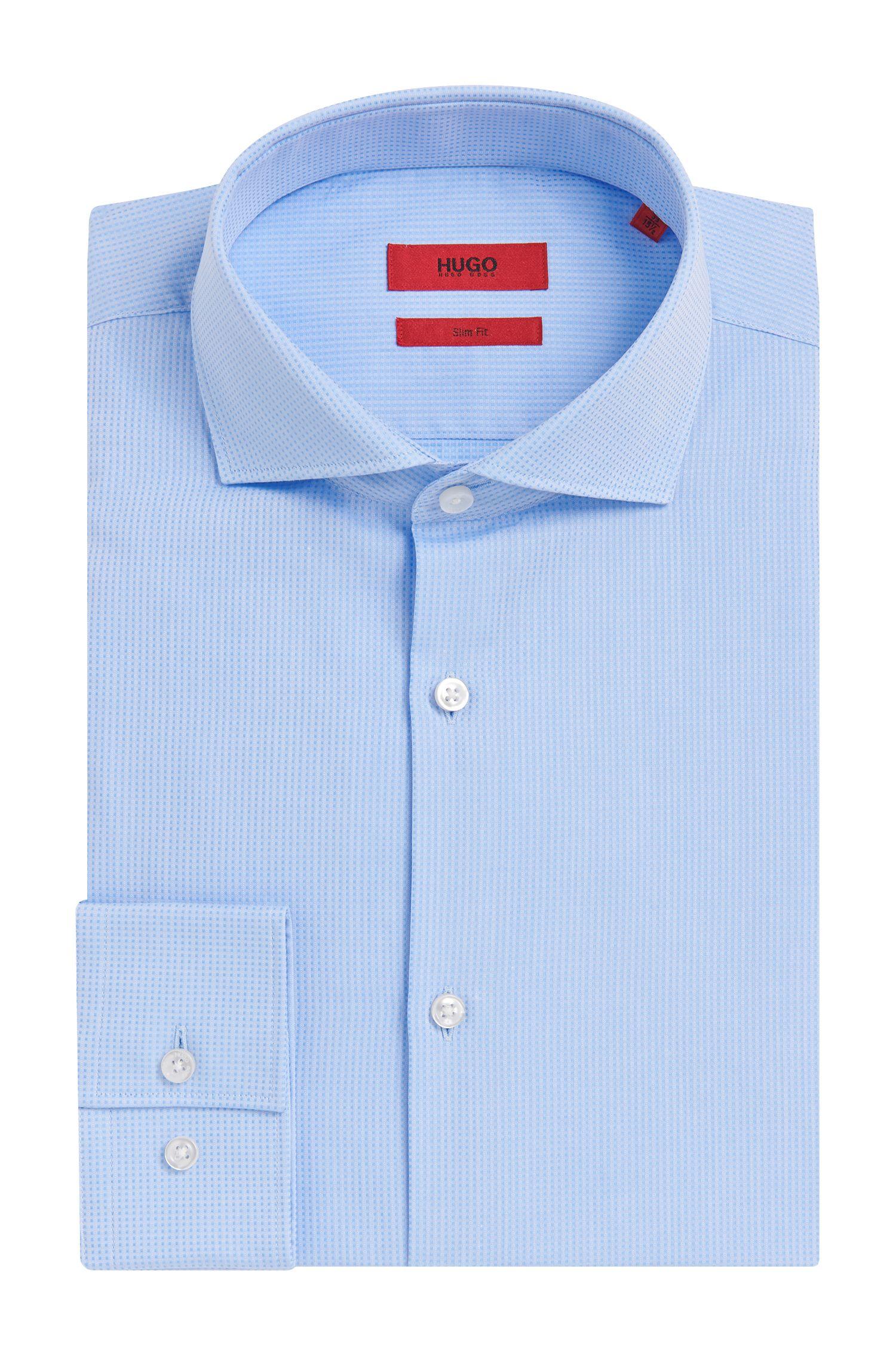 Kariertes Slim-Fit Hemd aus Baumwolle mit feiner Struktur: 'C-Jason'