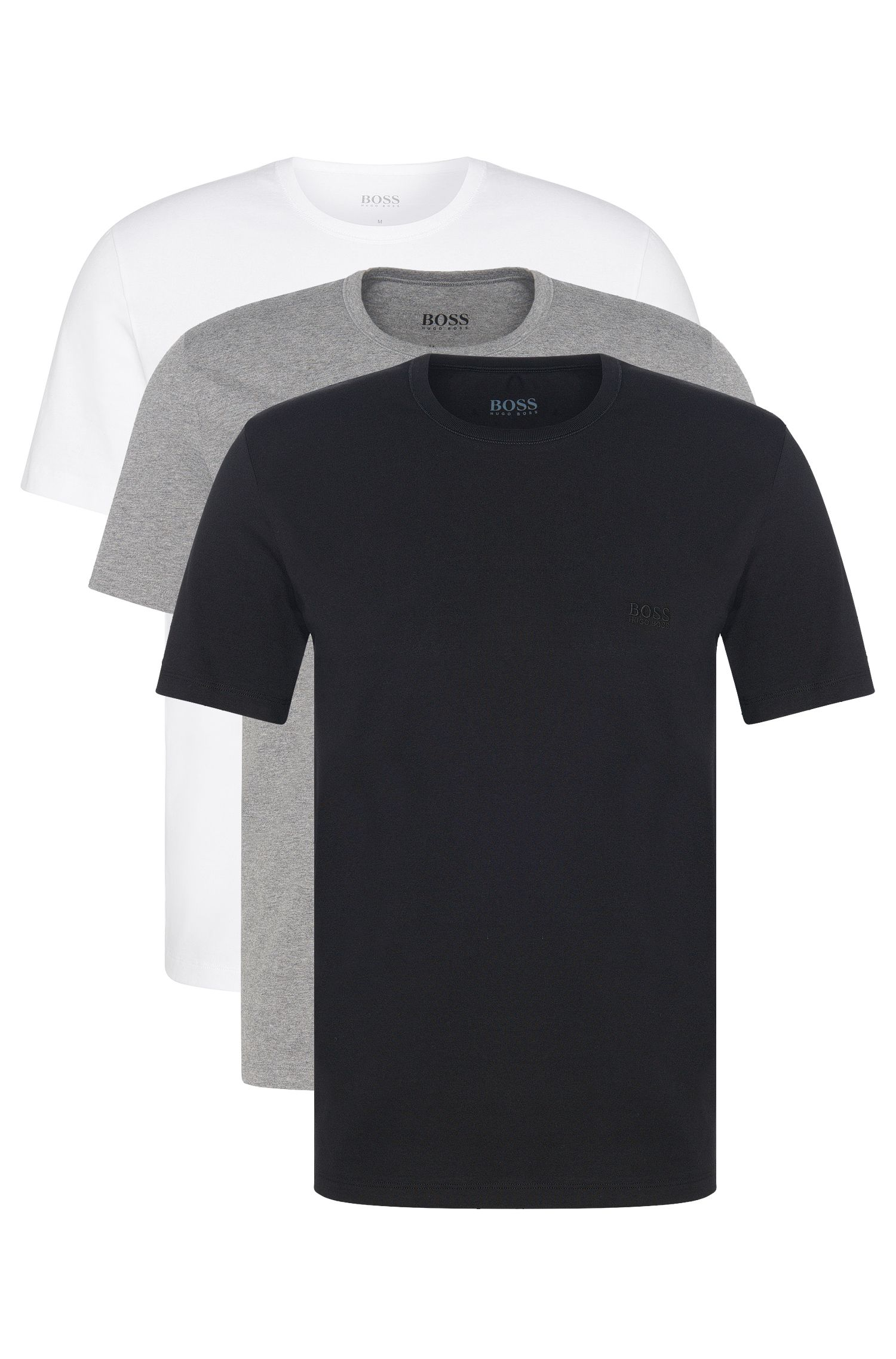 Regular-Fit Baumwoll-T-Shirts im Dreier-Pack von BOSS Menswear