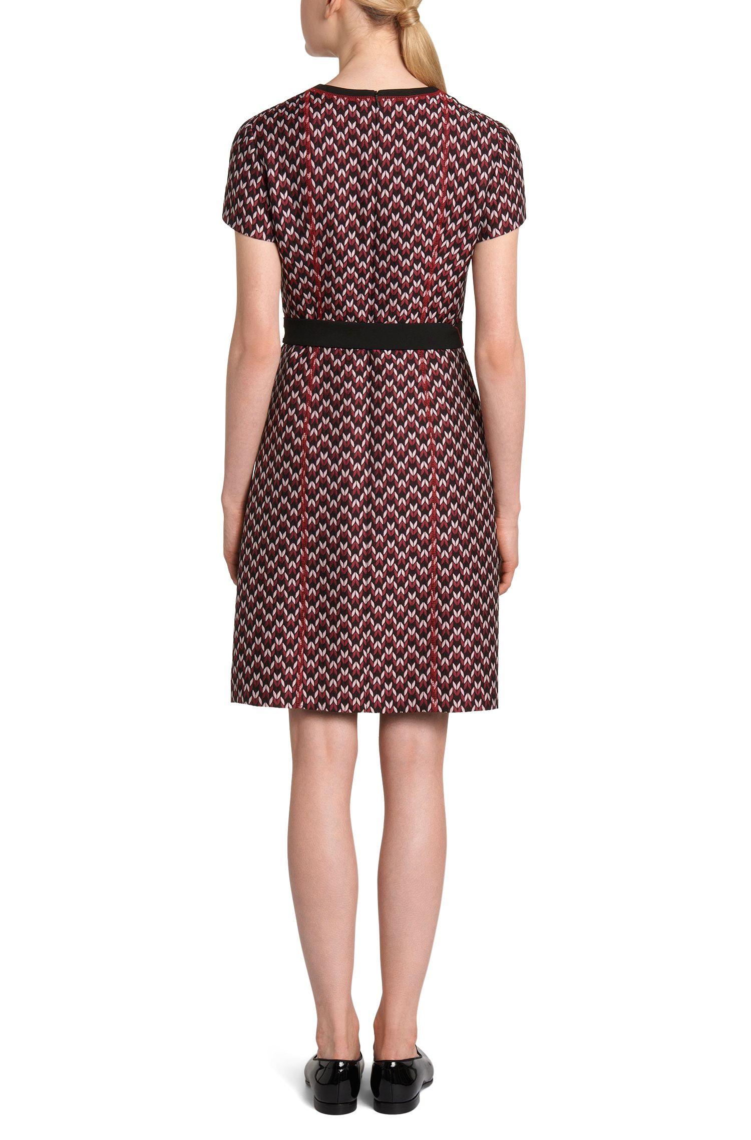 Gemustertes Kleid in Jacquard-Qualität: 'Dulana'
