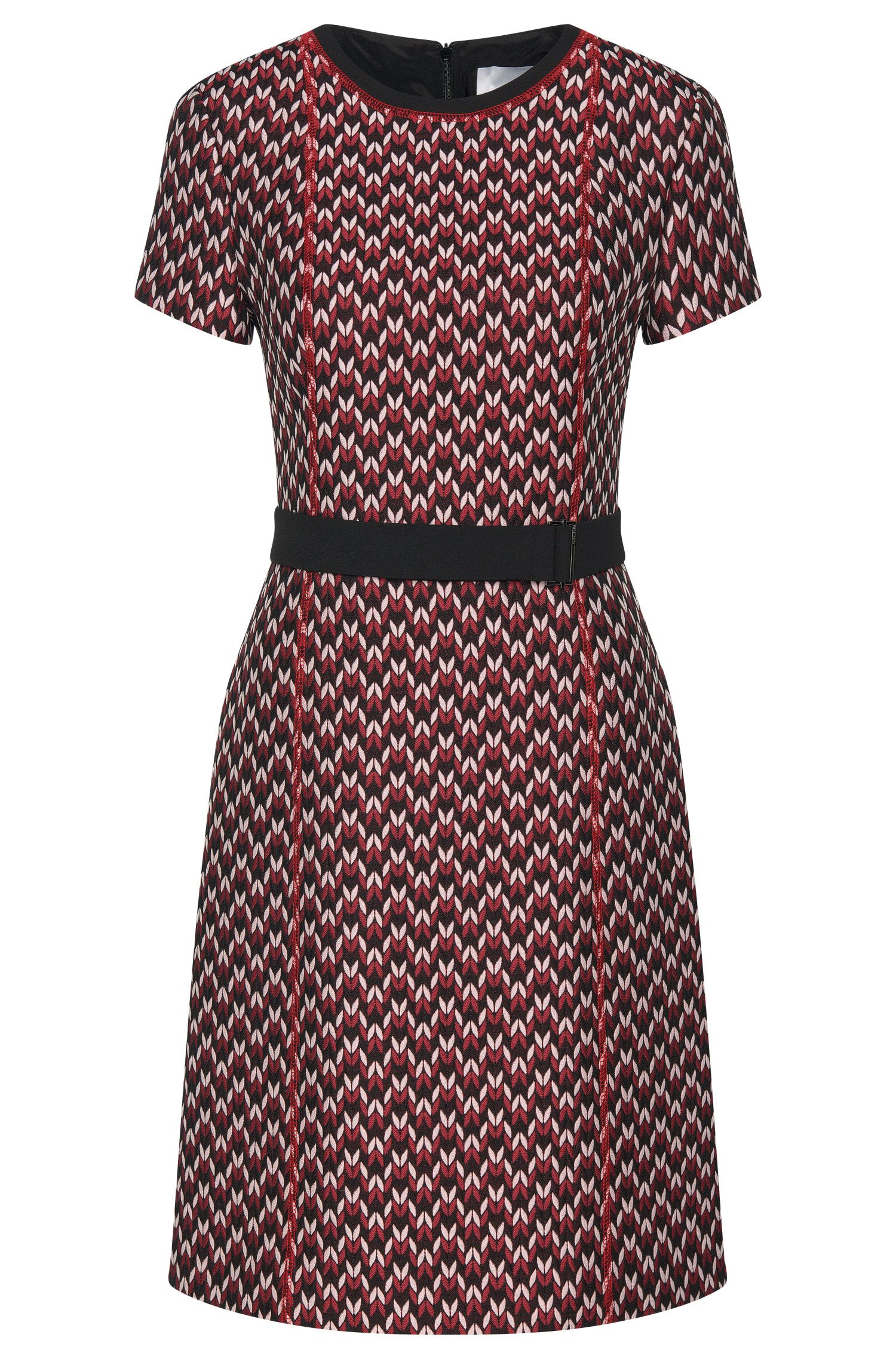 Patterned dress in jacquard quality: 'Dulana'