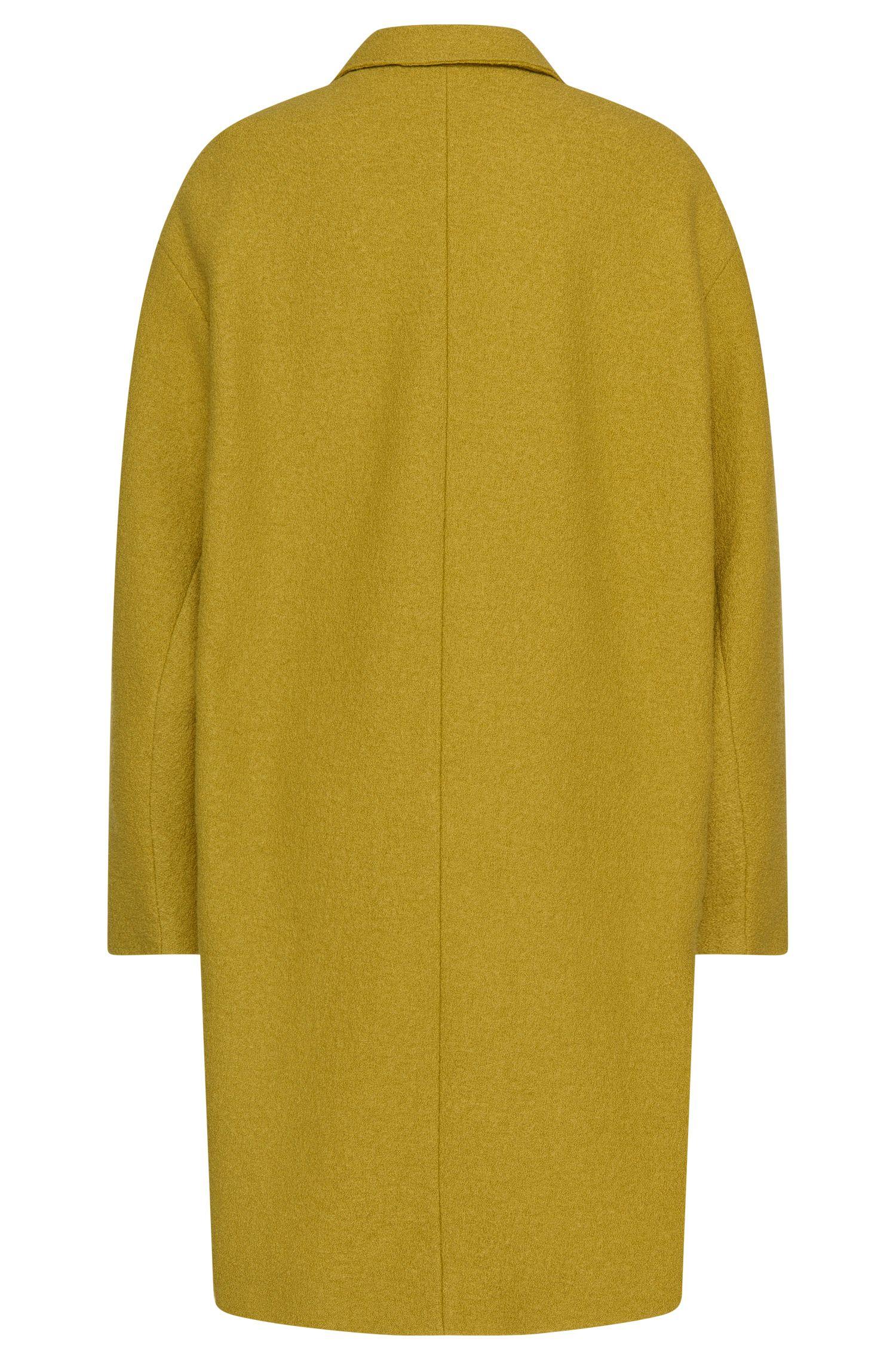 Oversized mantel van wol: 'Ciba'
