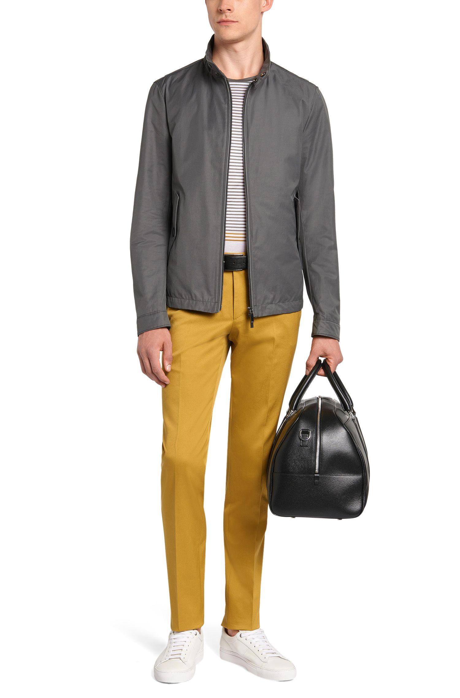 Gestreiftes Slim-Fit T-Shirt aus Baumwolle mit Farbverlauf: 'Tessler 39'