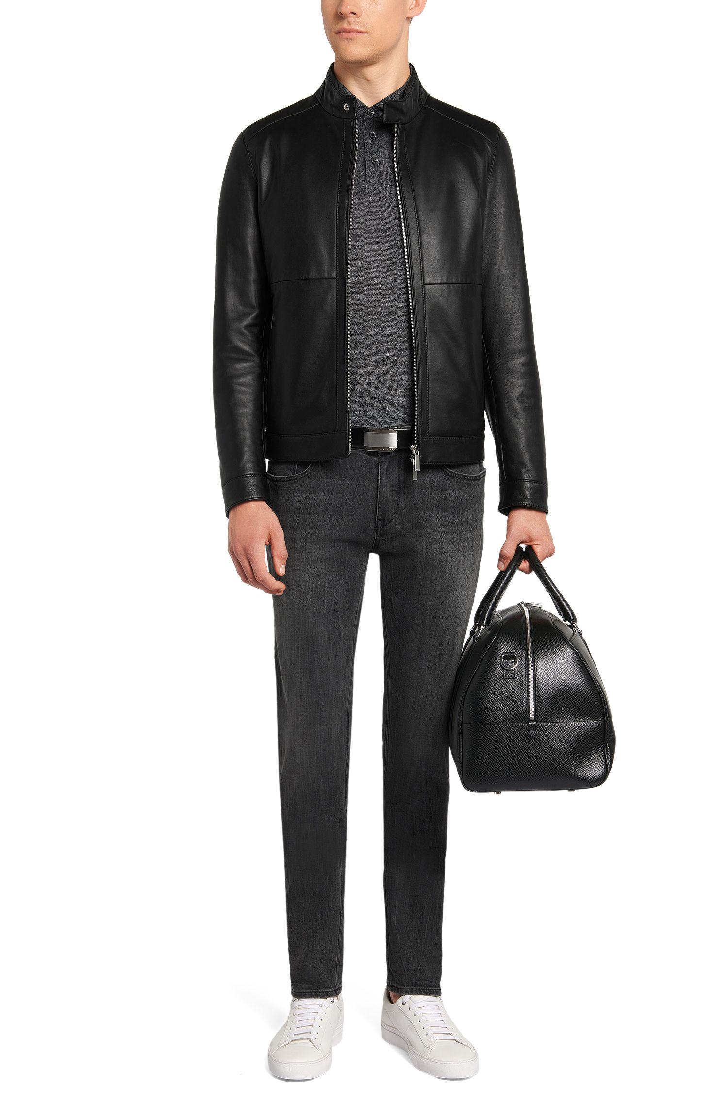 Slim-fit poloshirt van katoen en zijde uit de Tailored-collectie: 'T-Peret 03'