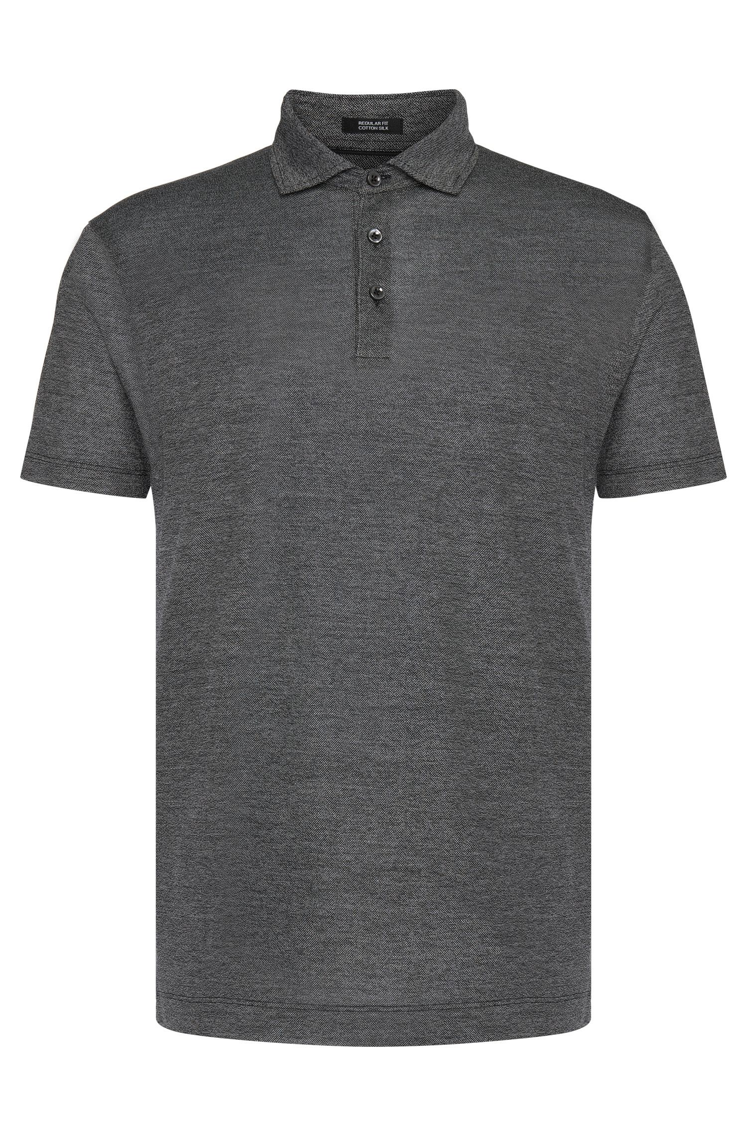 Slim-fit Tailored polo shirt in cotton and silk: 'T-Peret 03'
