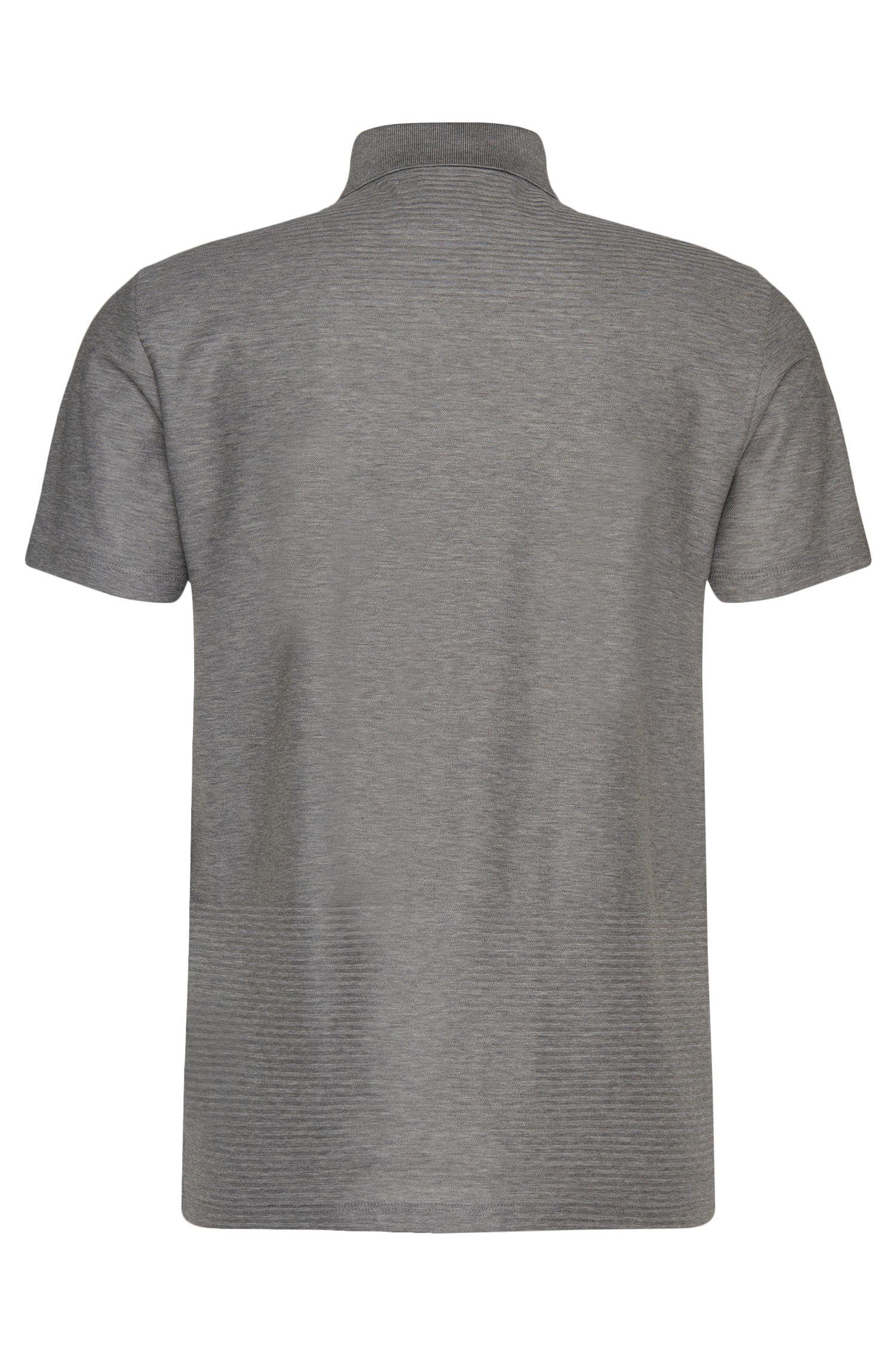 Regular-fit poloshirt uit de Tailored-collectie, van katoen met grafisch structuurdessin: 'T-Perry 10'