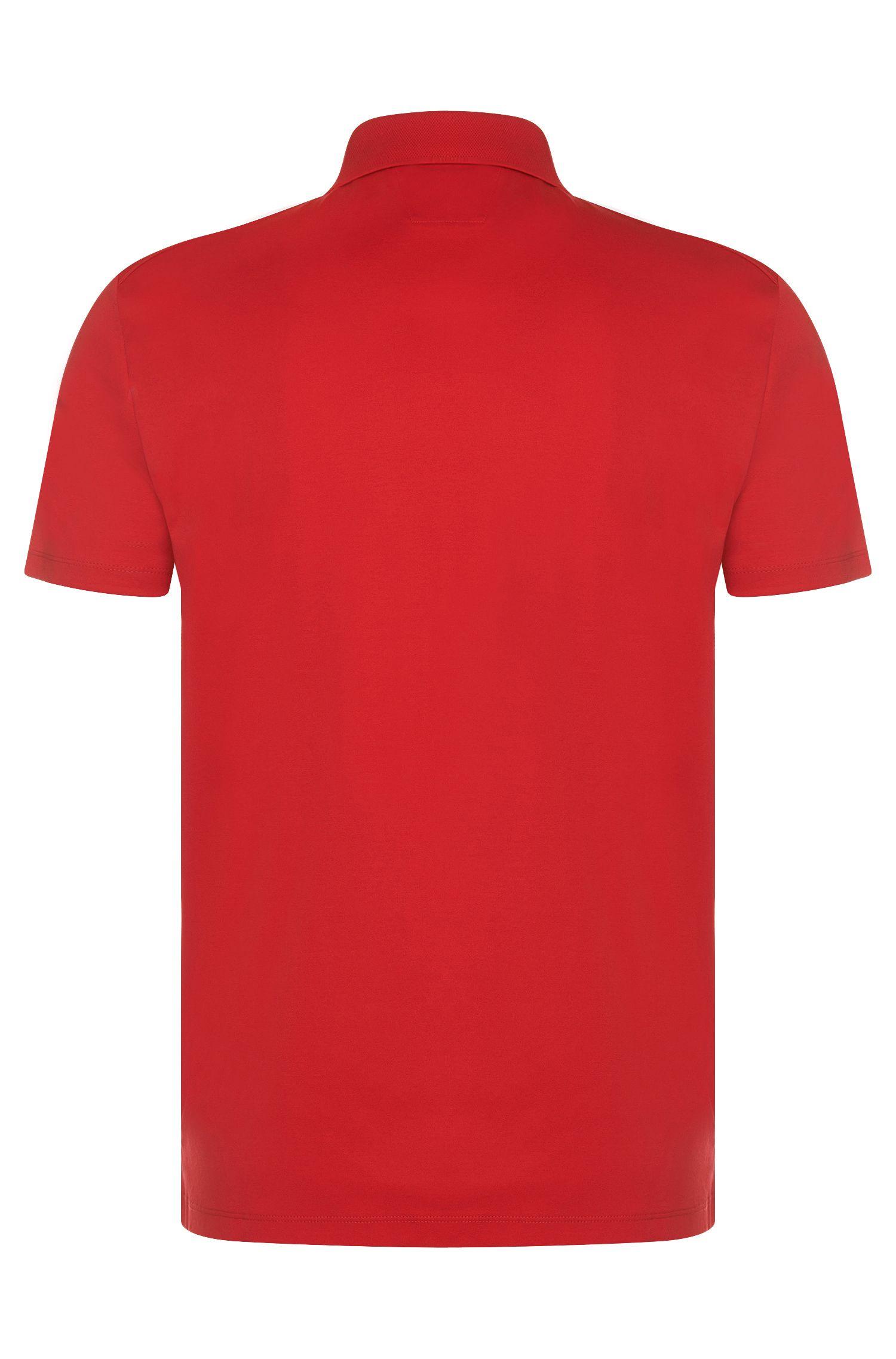 Regular-Fit Tailored Poloshirt aus merzerisierter Baumwolle: 'T-Perry 09'
