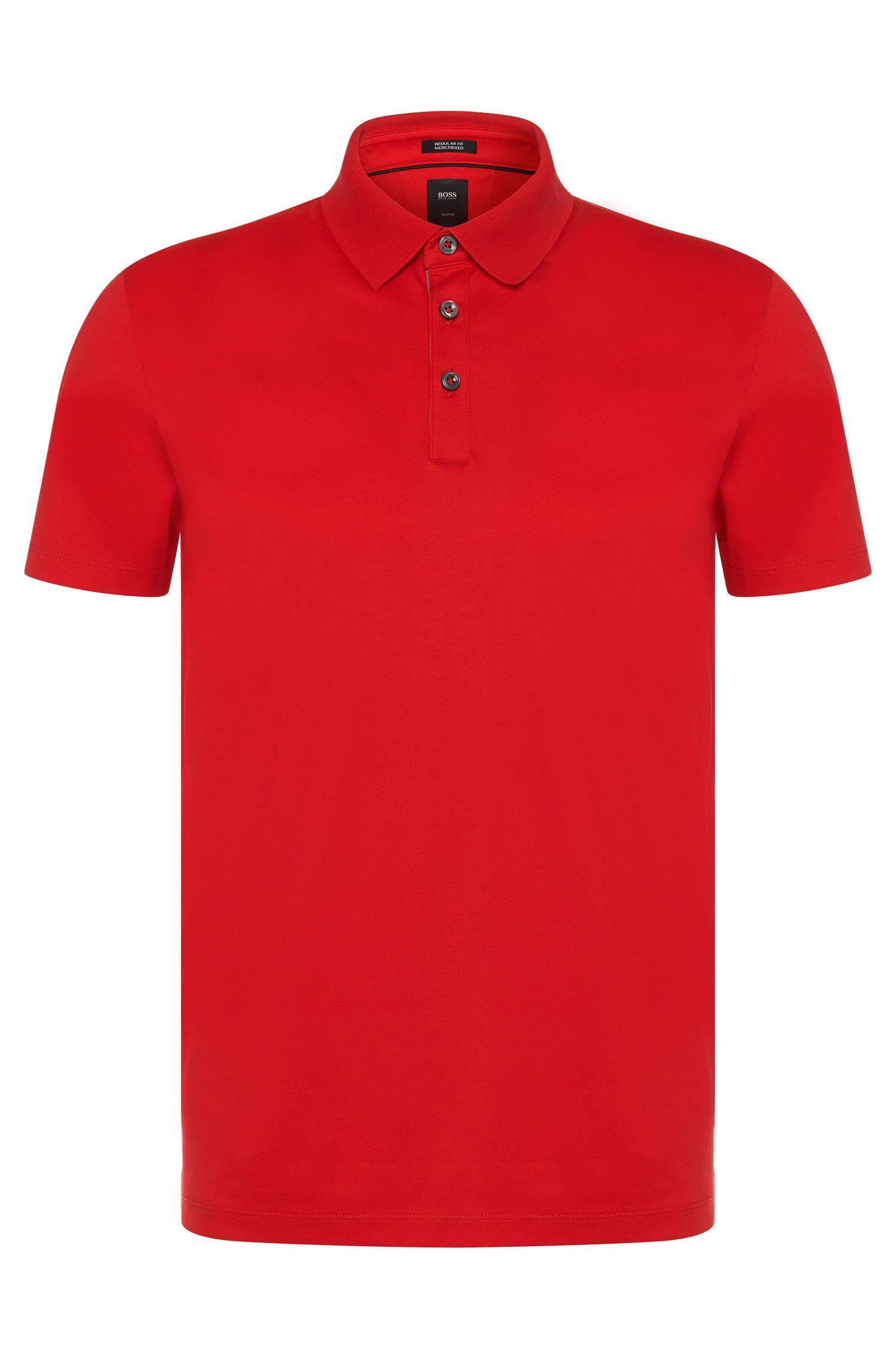 Regular-Fit Tailored Poloshirt aus merzerisierter Baumwolle: 'T-Perry 09'
