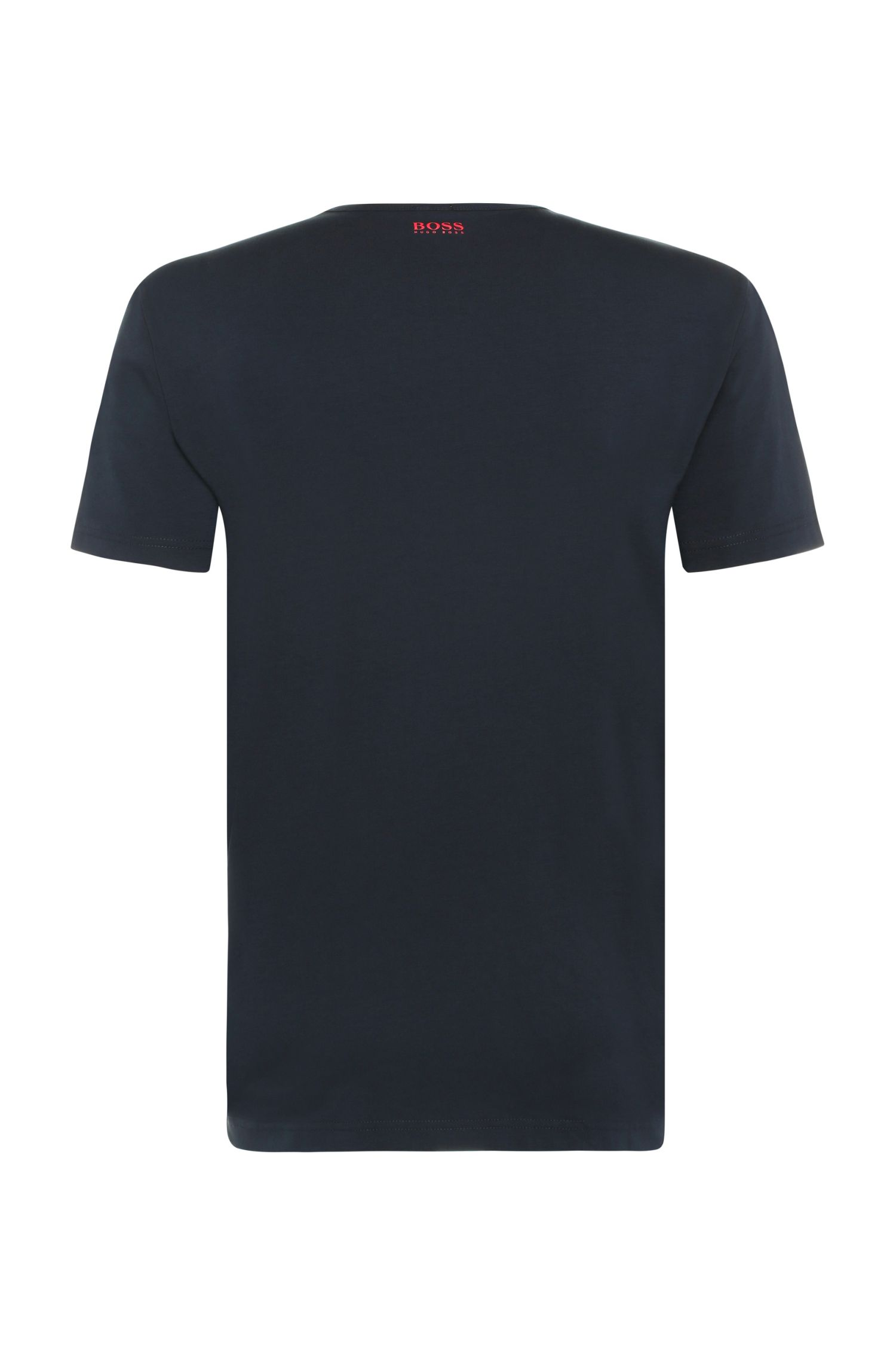 T-shirt logo Regular Fit en coton extensible: «Tee6»