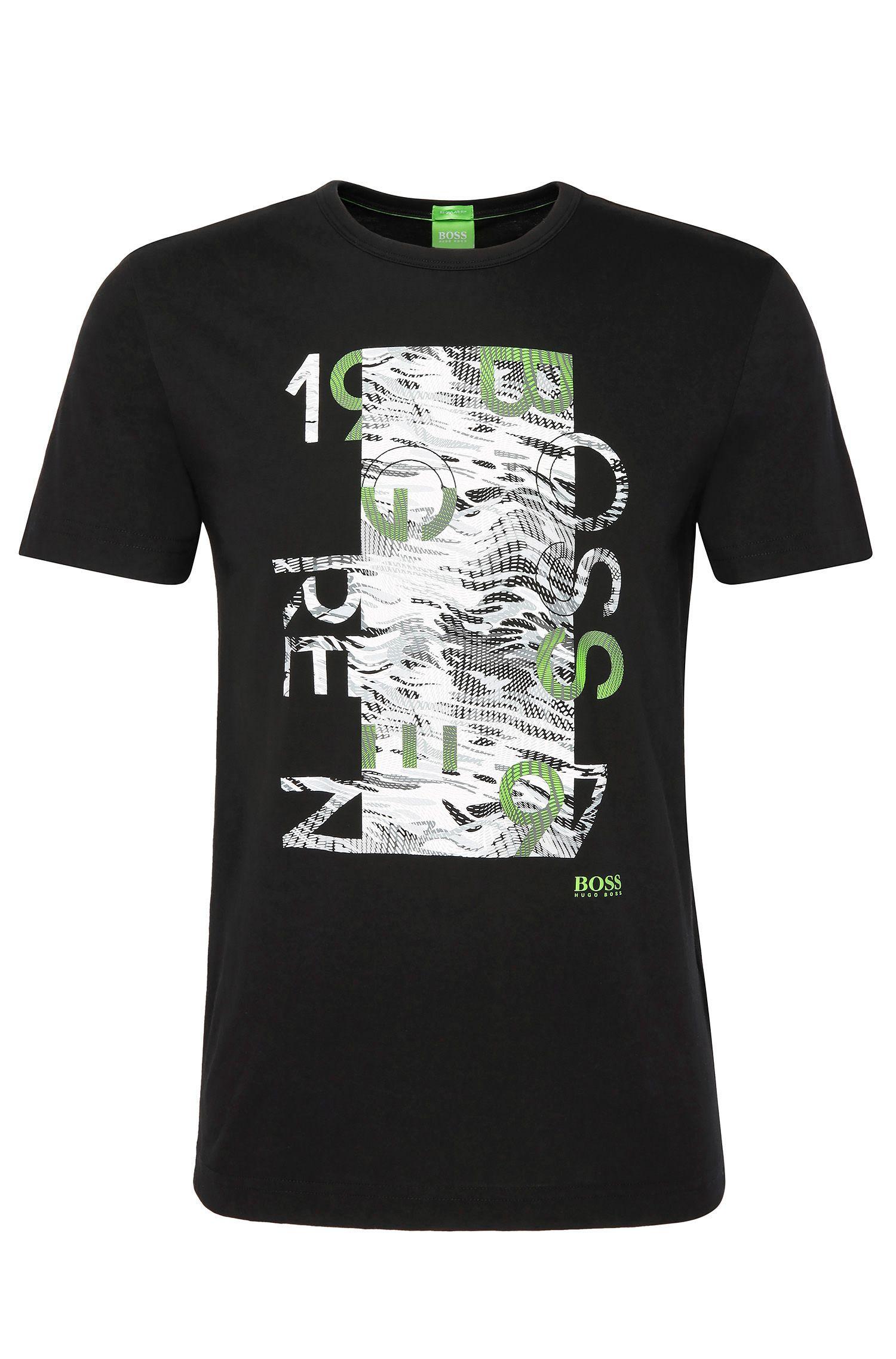 Regular-fit printed shirt in cotton: 'Tee 4'