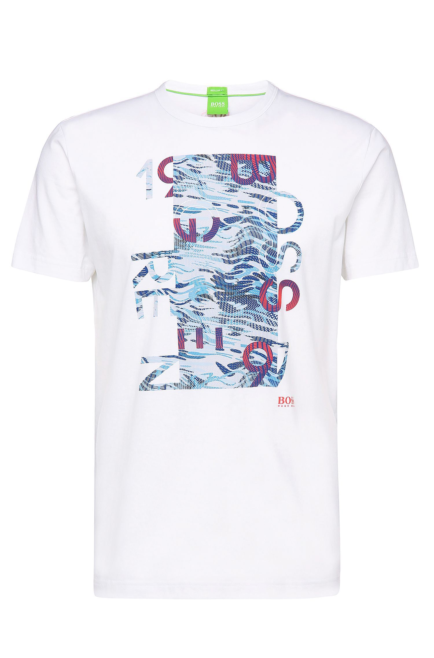 Regular-Fit Shirt aus Baumwolle mit Print: ´Tee 4`