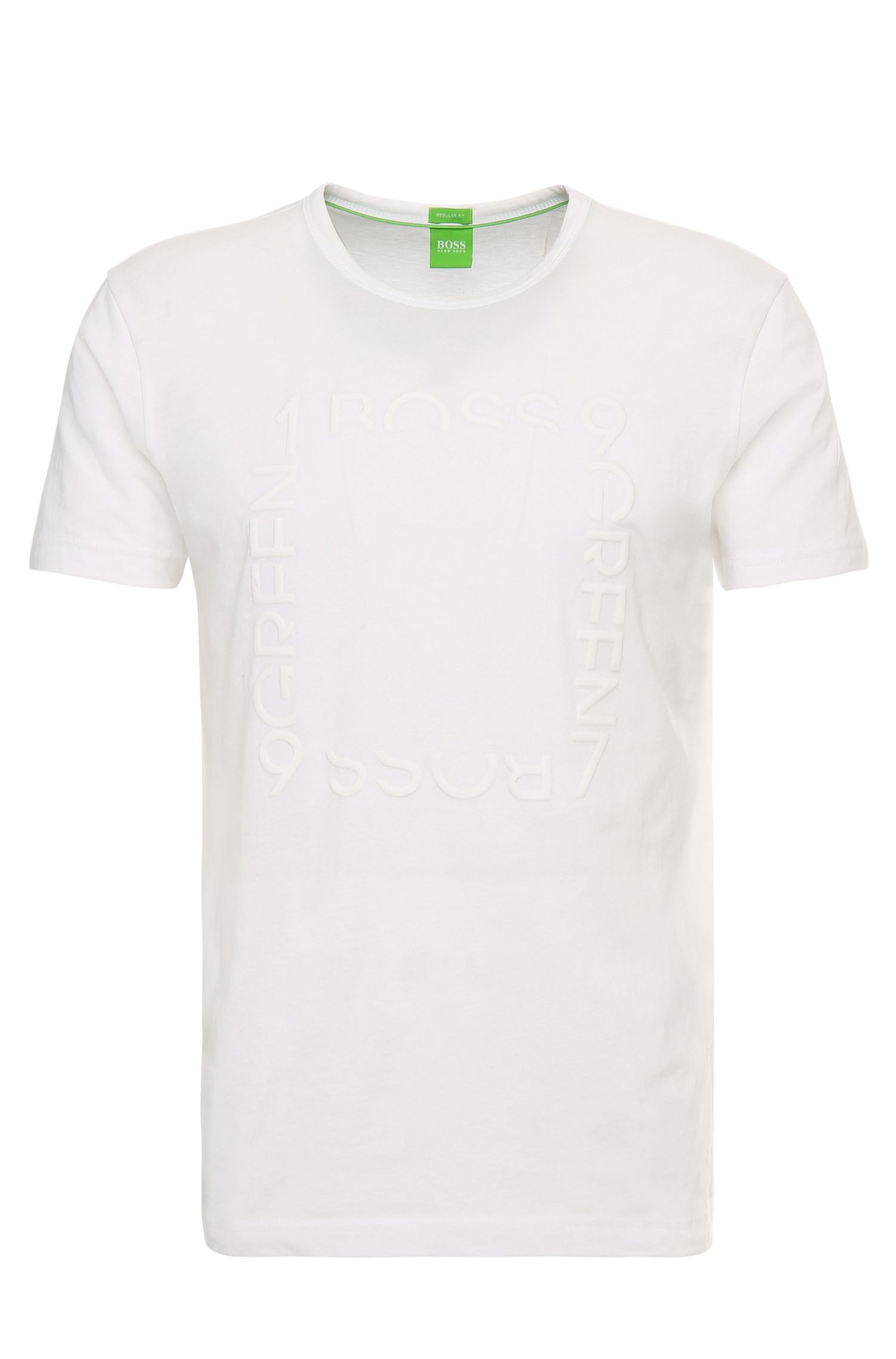 Regular-fit T-shirt in cotton with logo lettering: 'Tee 3'