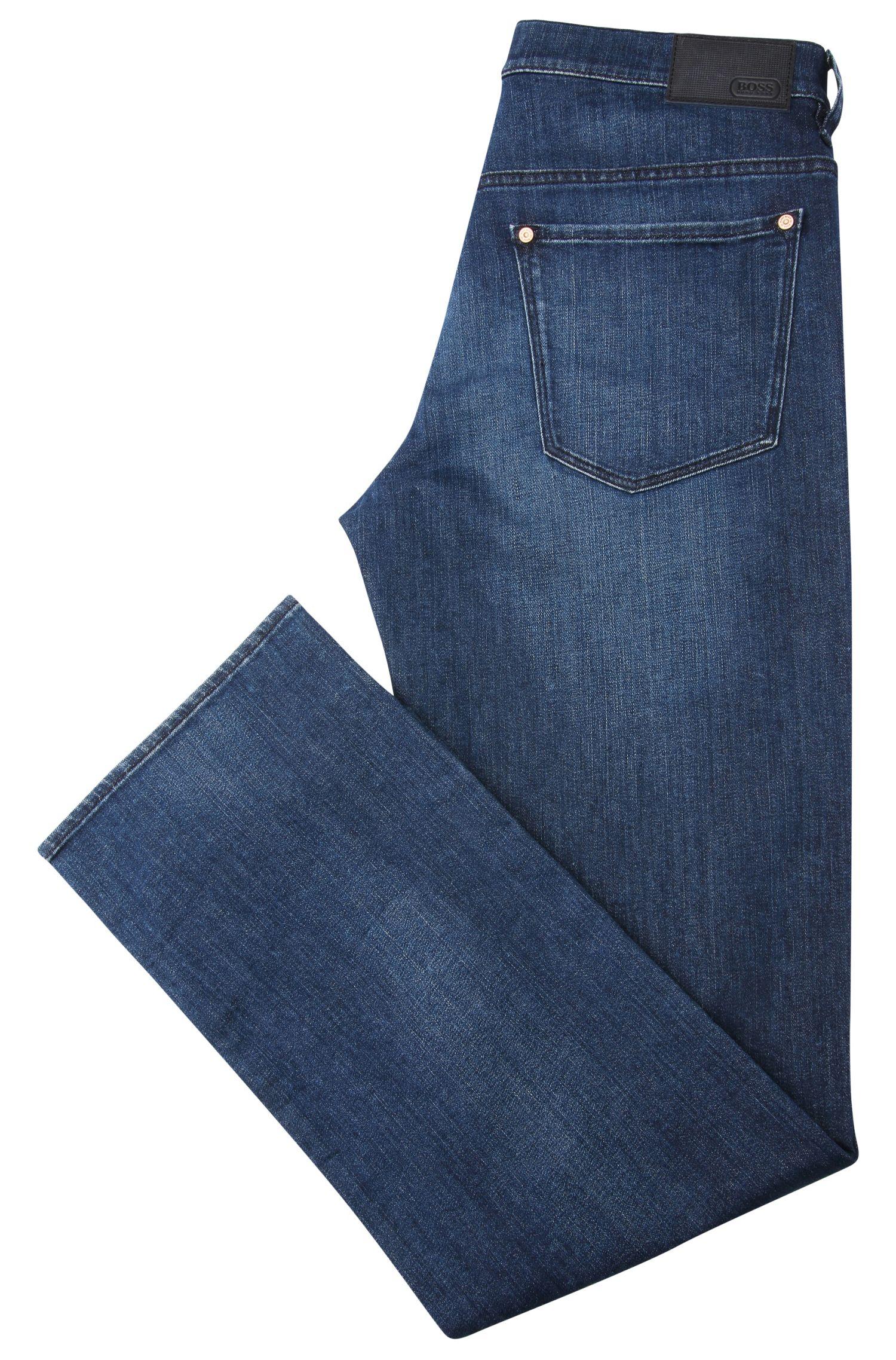 Jeans Relaxed Fit en coton stretch délavé: «C-KANSAS»