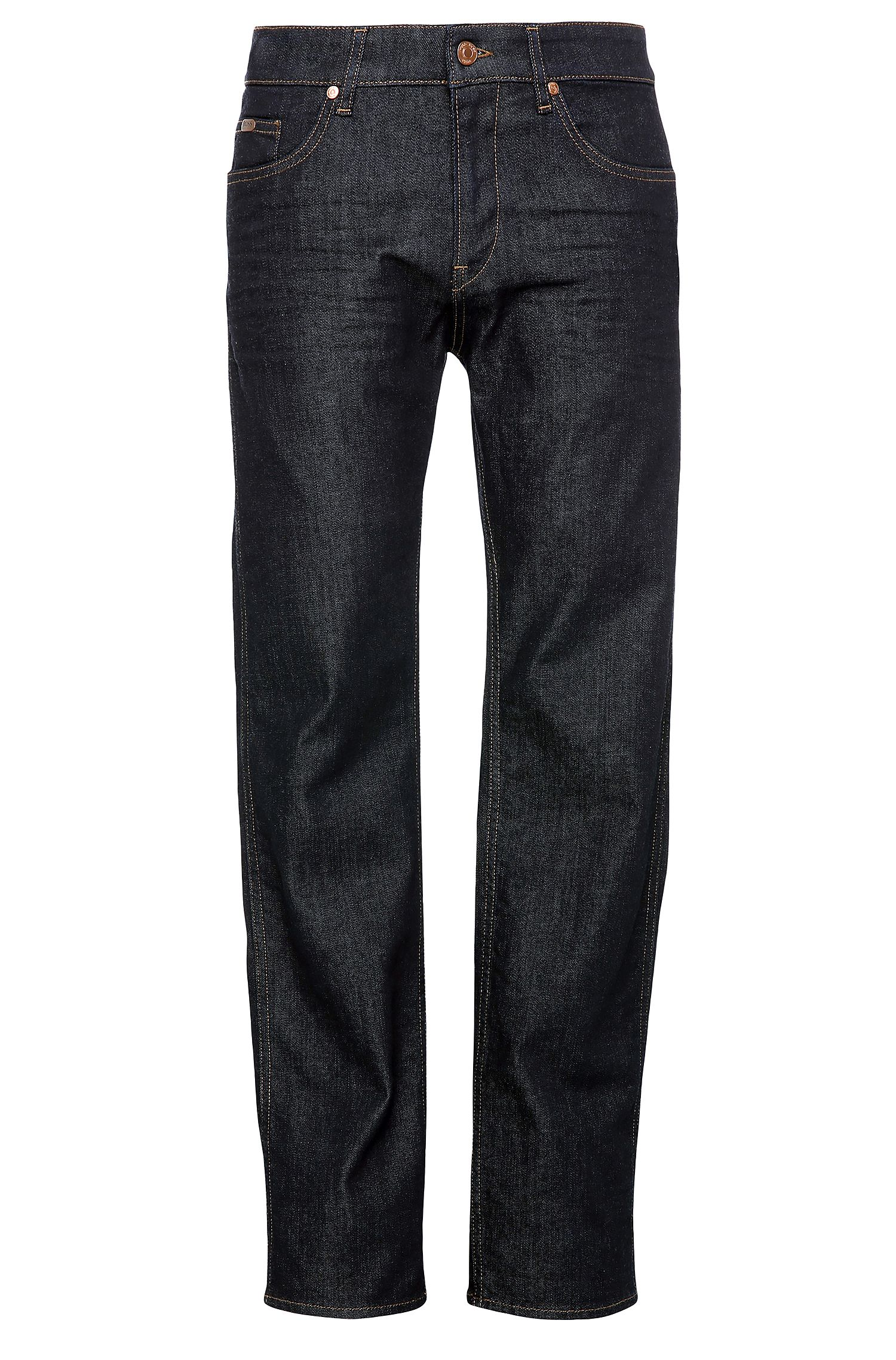 Slim-fit jeans in textured stretch cotton: 'C-DELAWARE1'