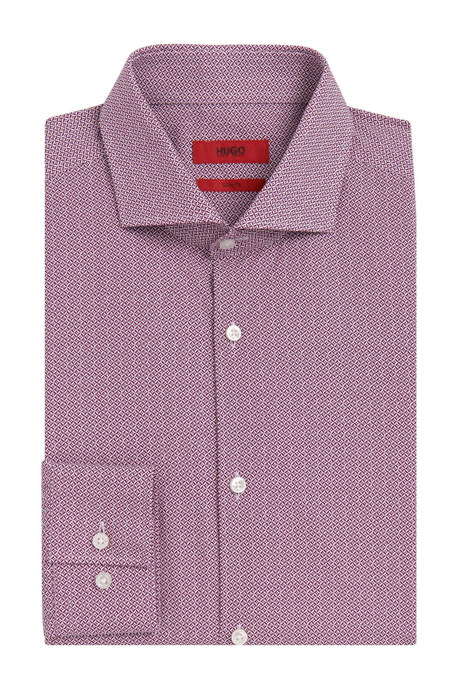 Slim-Fit Hemd aus Baumwolle mit Allover-Muster: 'C-Jason'