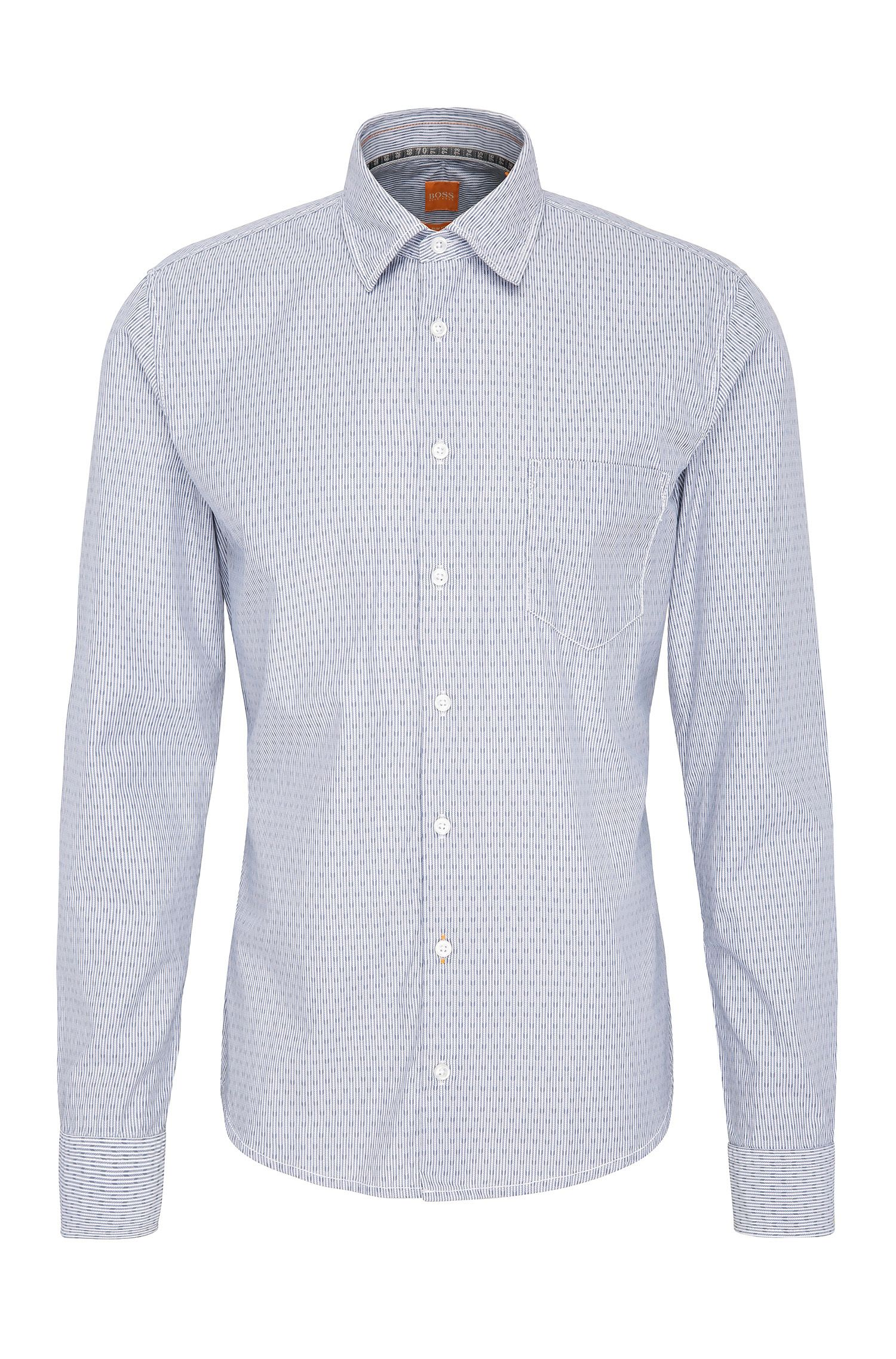 Striped slim-fit shirt in cotton: 'EnameE_1'