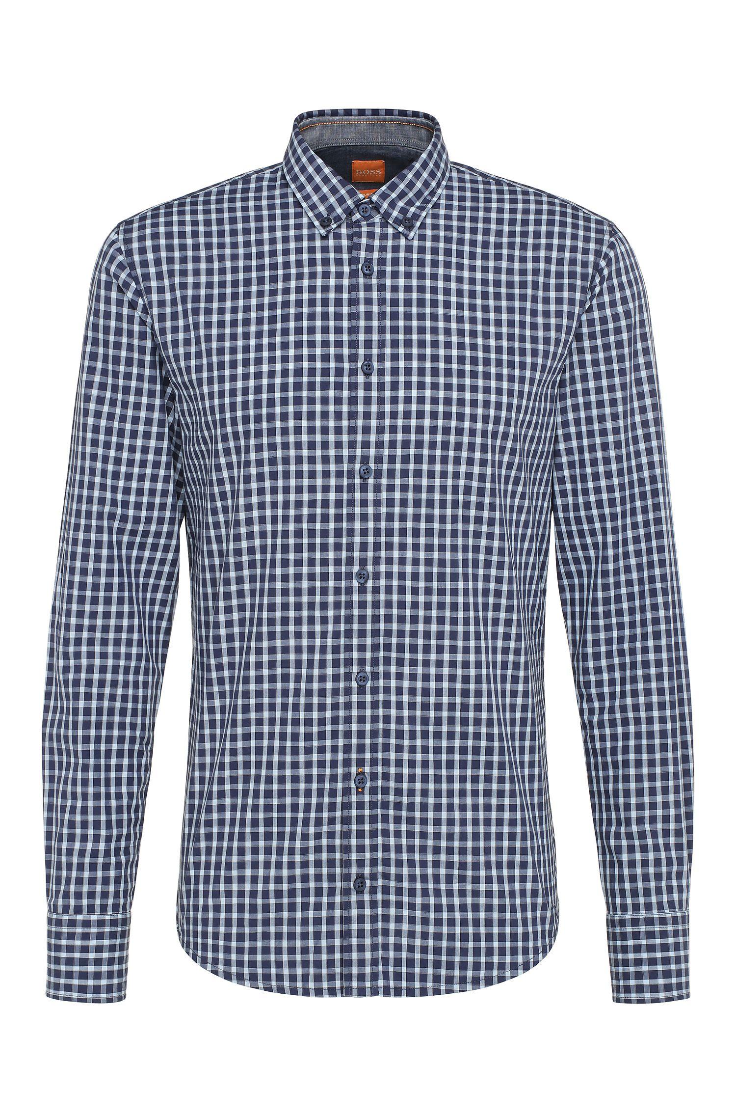 Camicia slim fit in cotone a quadri: 'EdipoE'