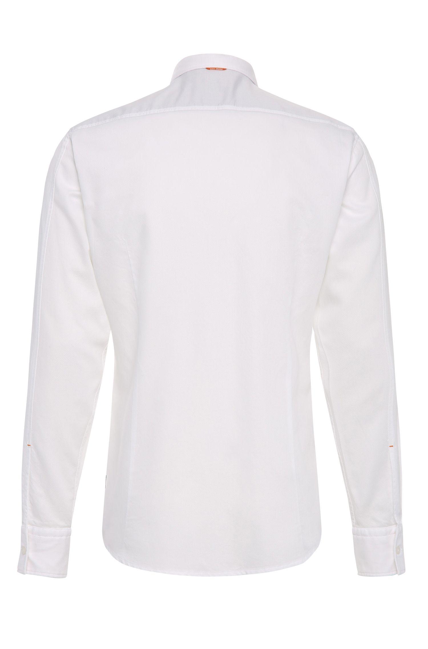 Texturiertes Slim-Fit Hemd aus Baumwolle: ´EdipoE`
